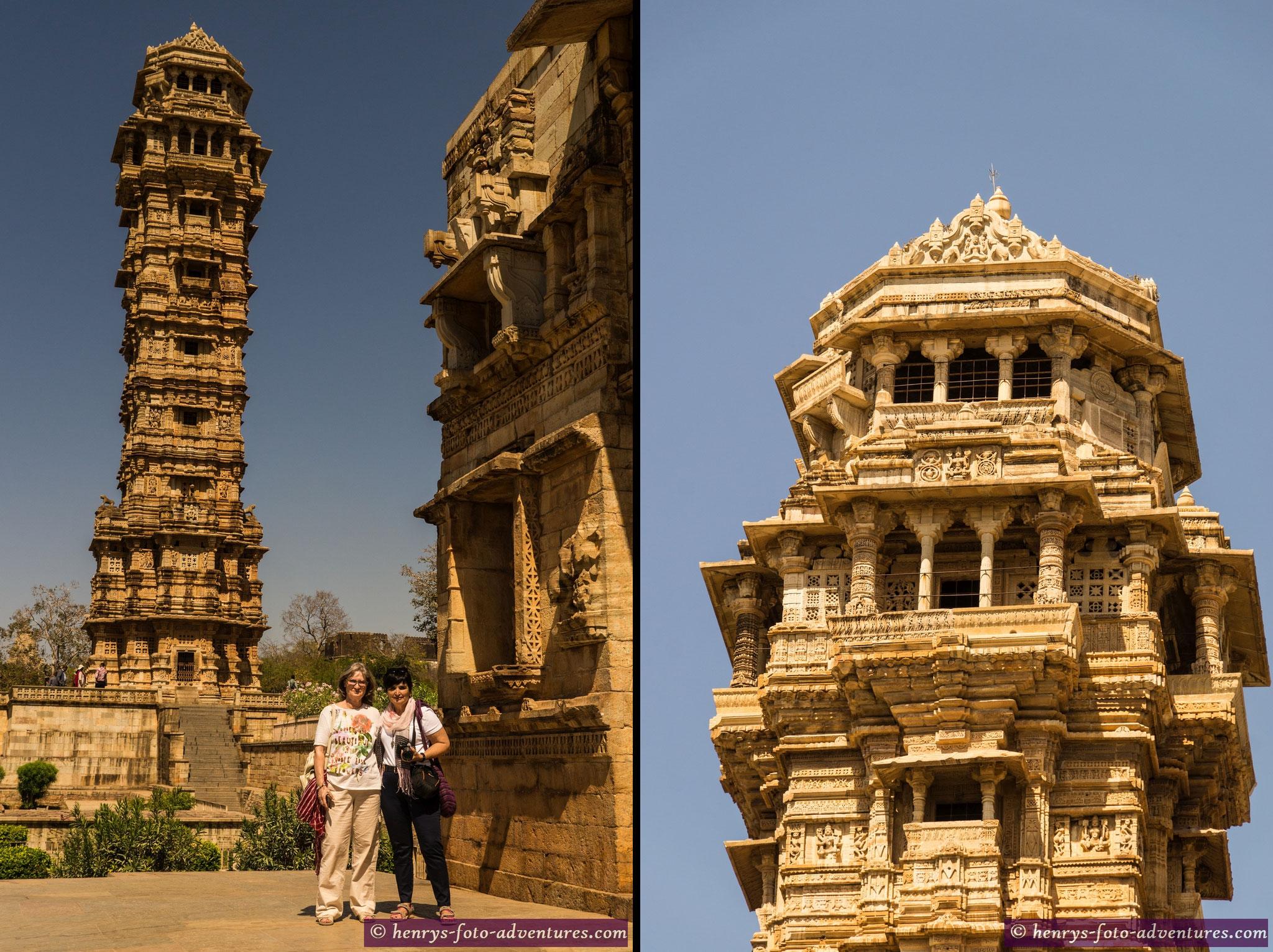 der Siegesturm (Jaya Stambh), 1440 erbaut 37m hoch