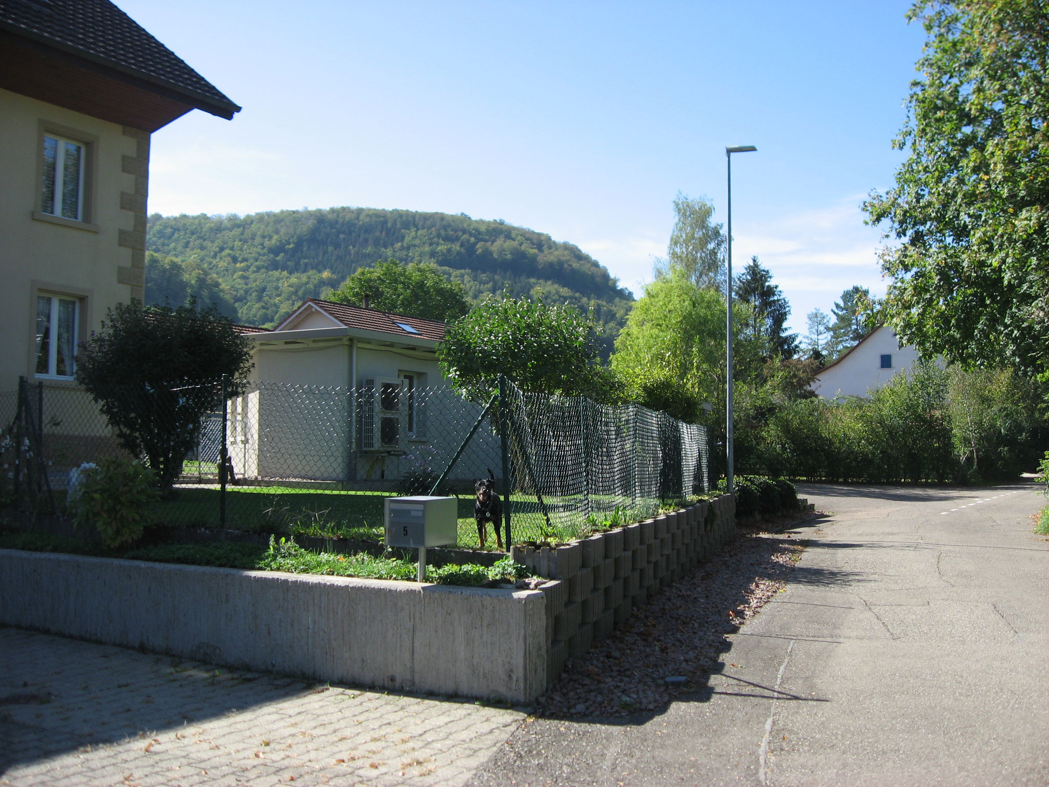 Zufahrt Hauptstrasse von Frick