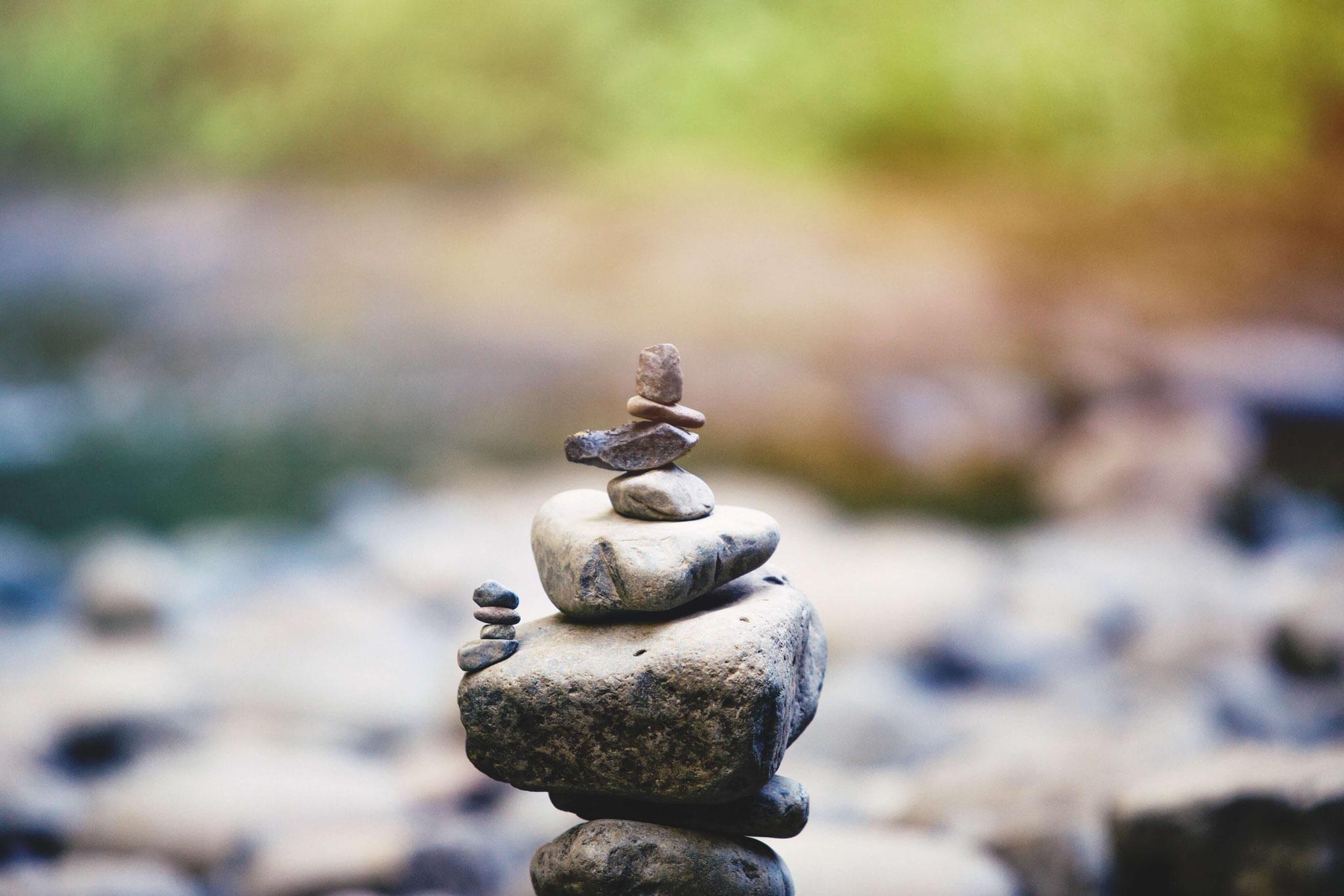 Das Gleichgewicht ist manchmal wacklig