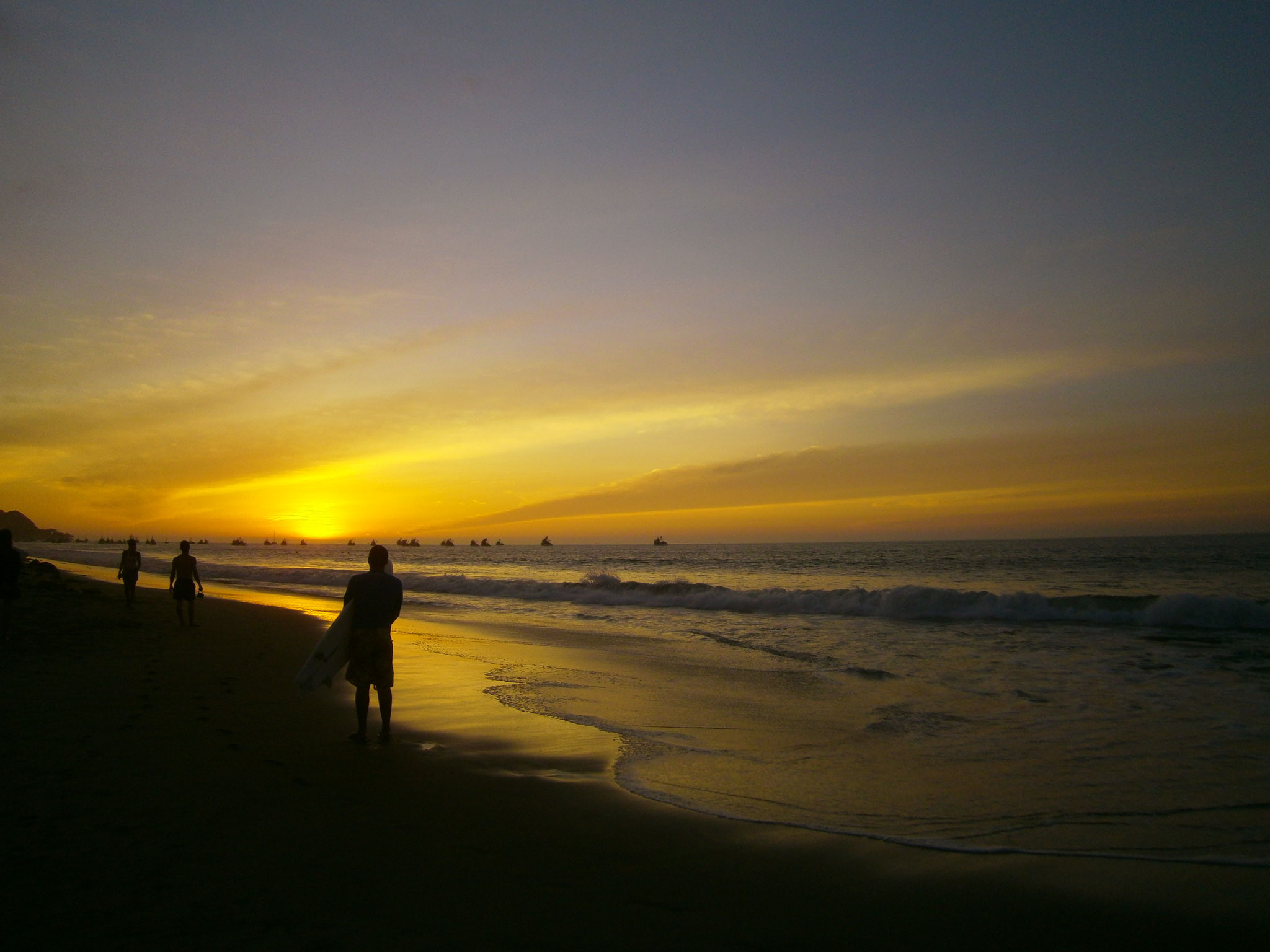 Sonnenuntergang in Mancora, Peru ©EvaSchöttl