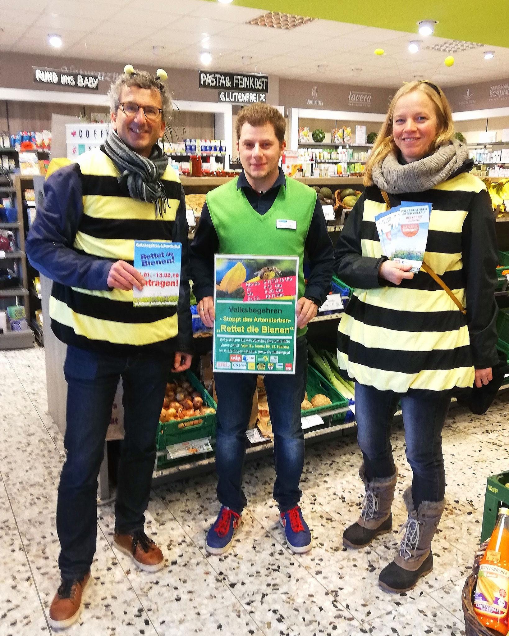"""Unterstützung des Aktionsbüdnisses """"Rettet die Bienen"""""""