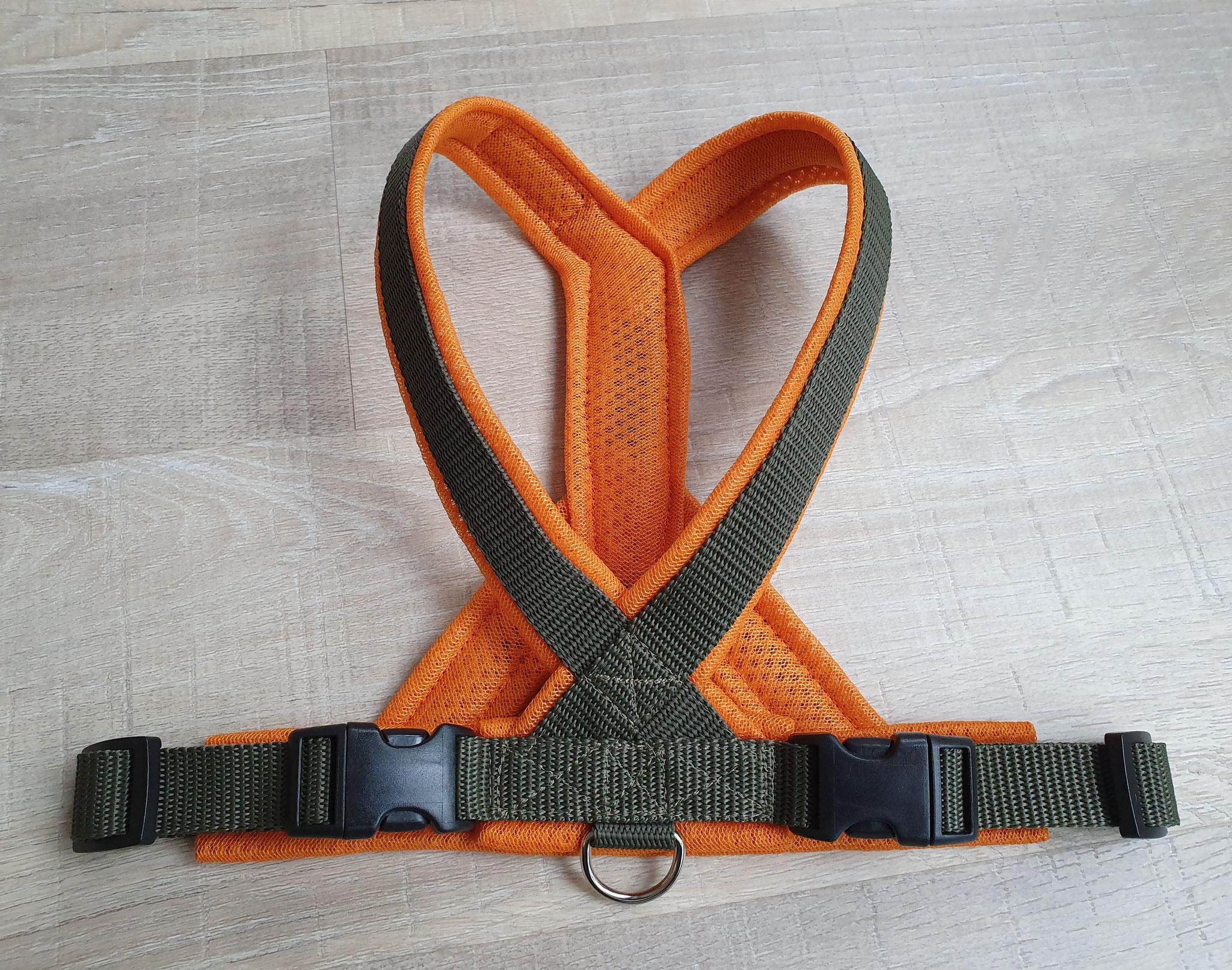 Perfect fit Geschirr oliv/orange