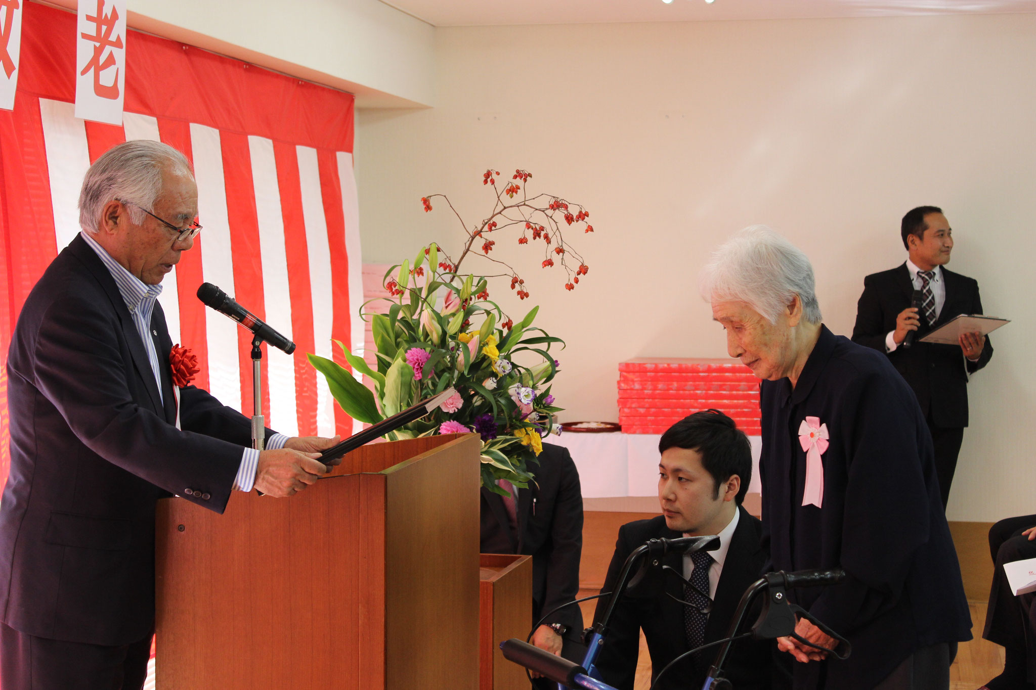 100歳を迎えられる田中喜久子様です。
