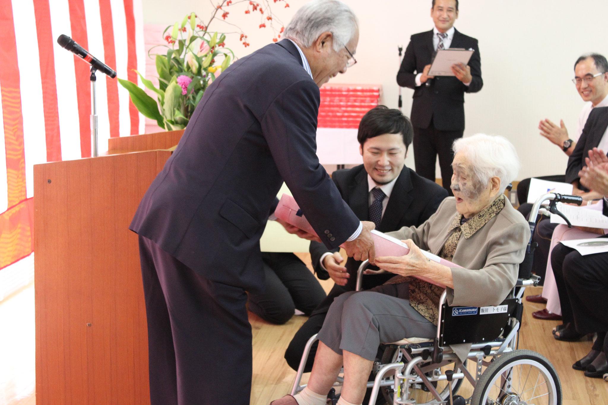 101歳の飯田トモ子様です。