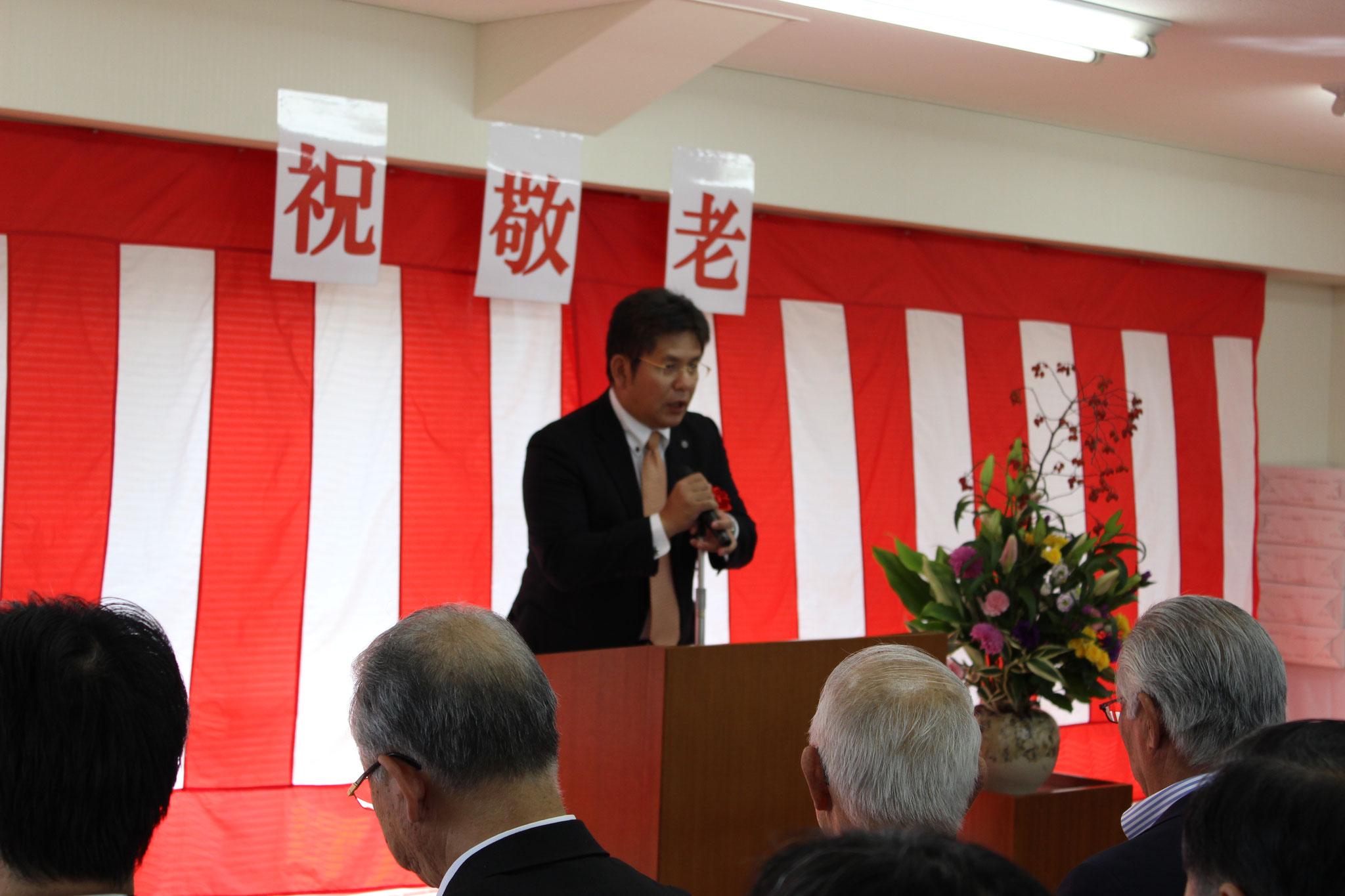 福岡県議会井上忠敏議員の秘書栗田様からの祝辞です。