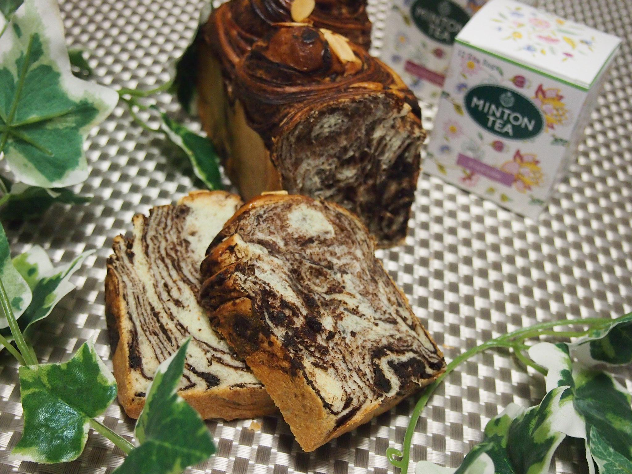 うずまきチョコシートパン(チョコシートを作って、マーブル状に作ります)