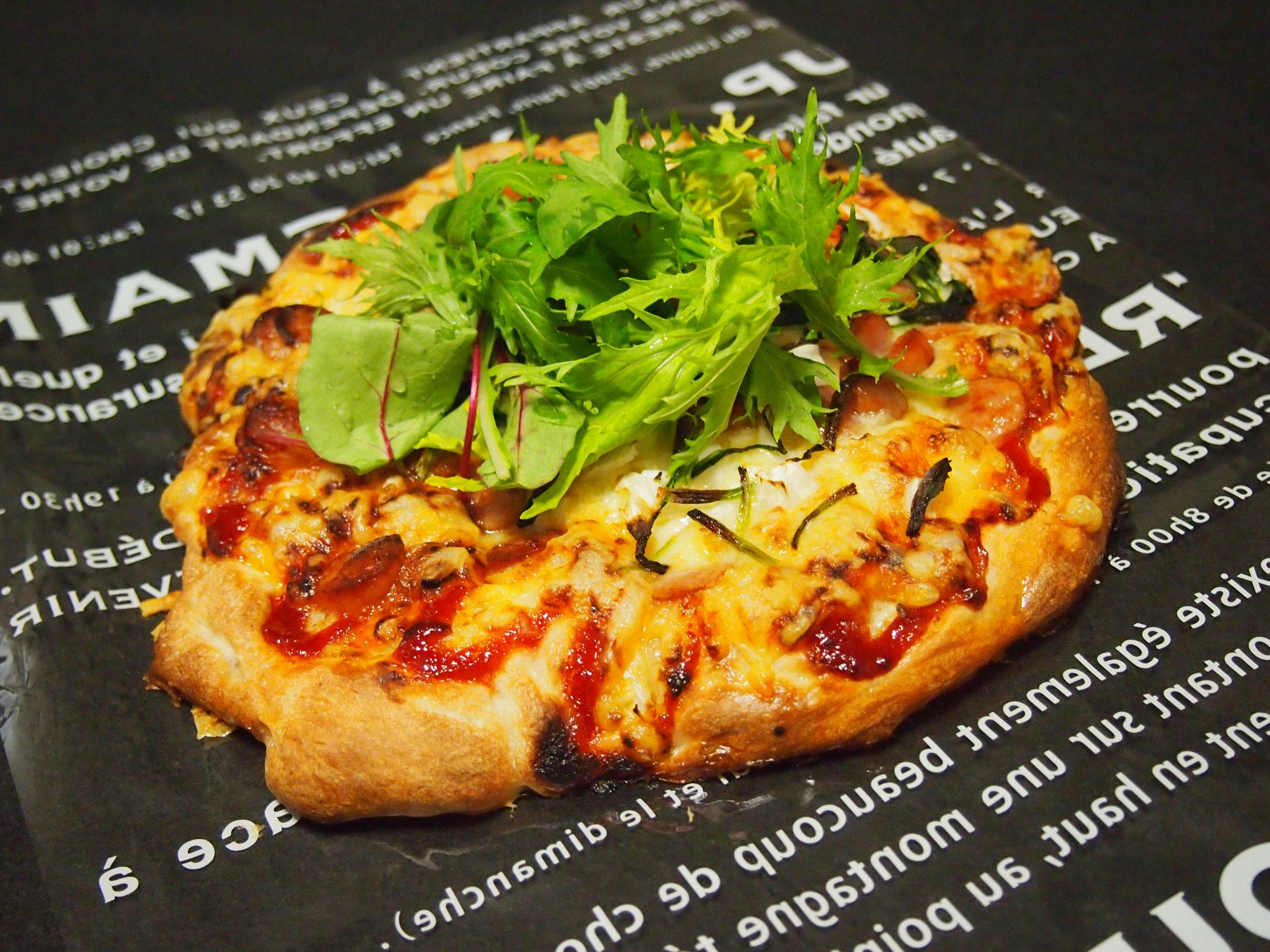 もちもちピザ(1時間で作れます)