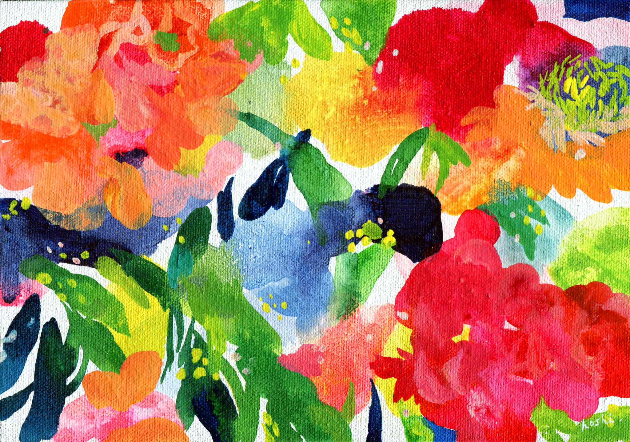 """untitled"" acrylic on canvas 15.8×22.7cm,2016"