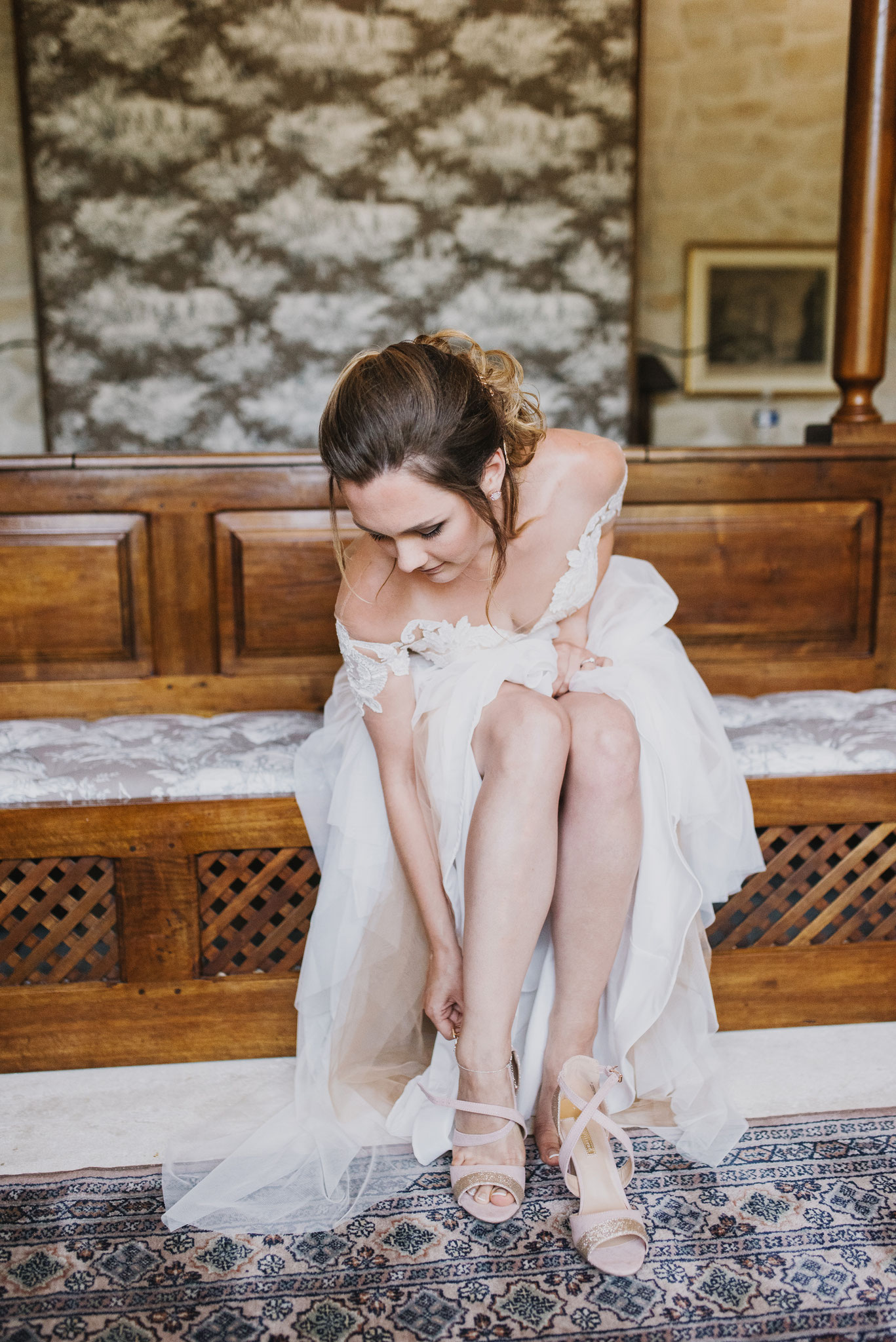 утро невесты, свадьба в Провансе