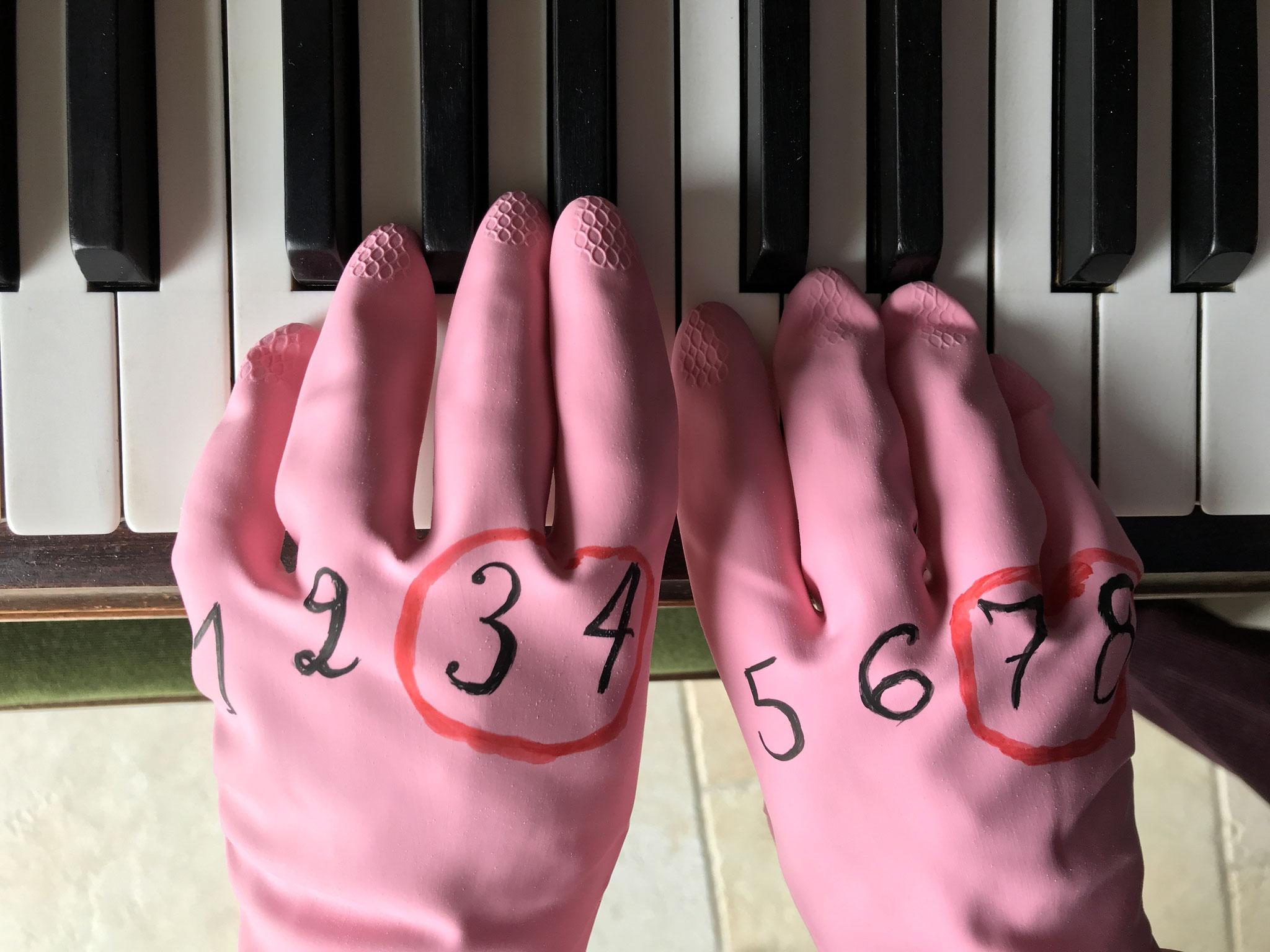 Apprentissage des tonalités au piano