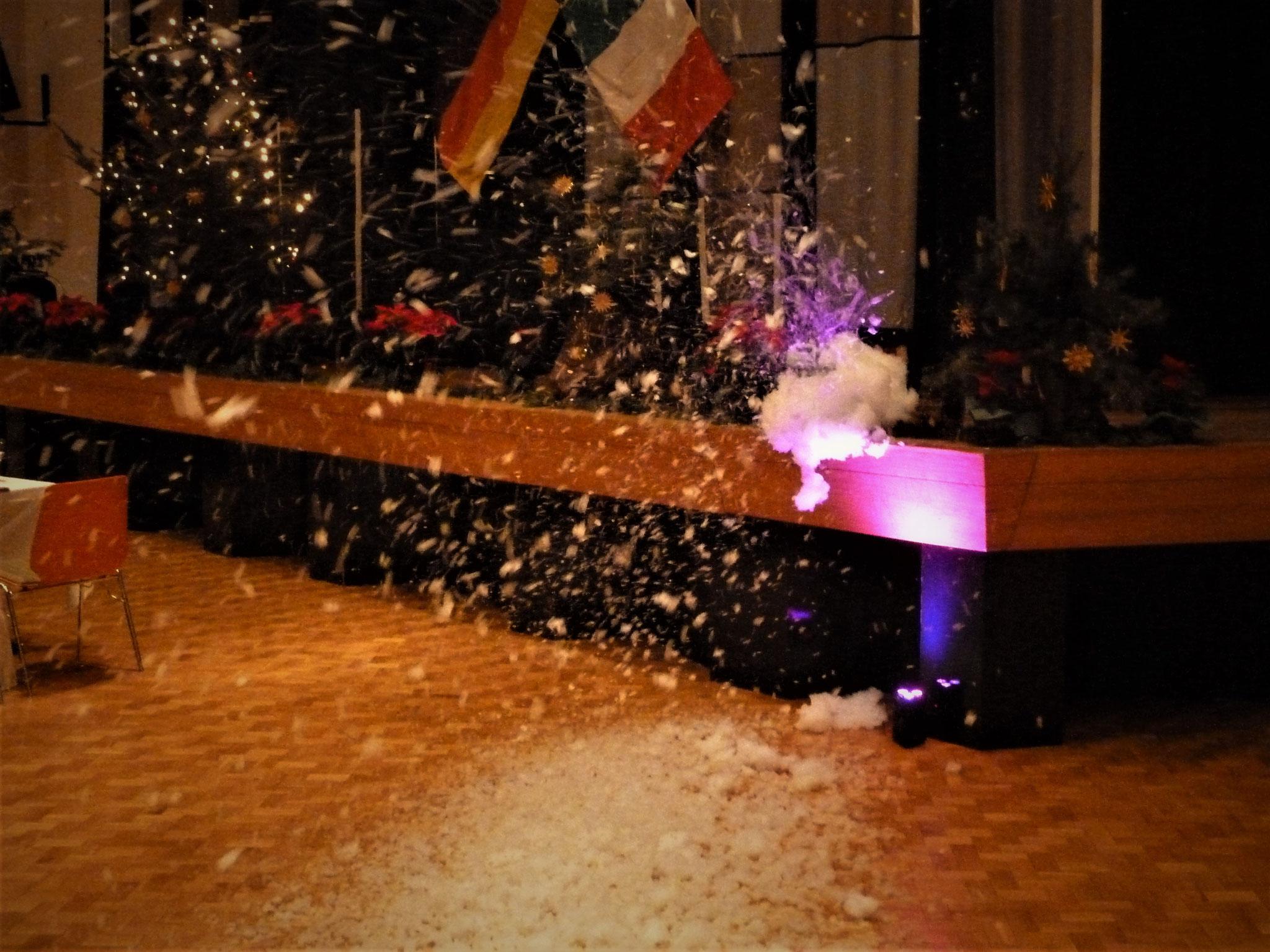 ...kein Schnee in der Toskana, aber in Ellhofen!!!!