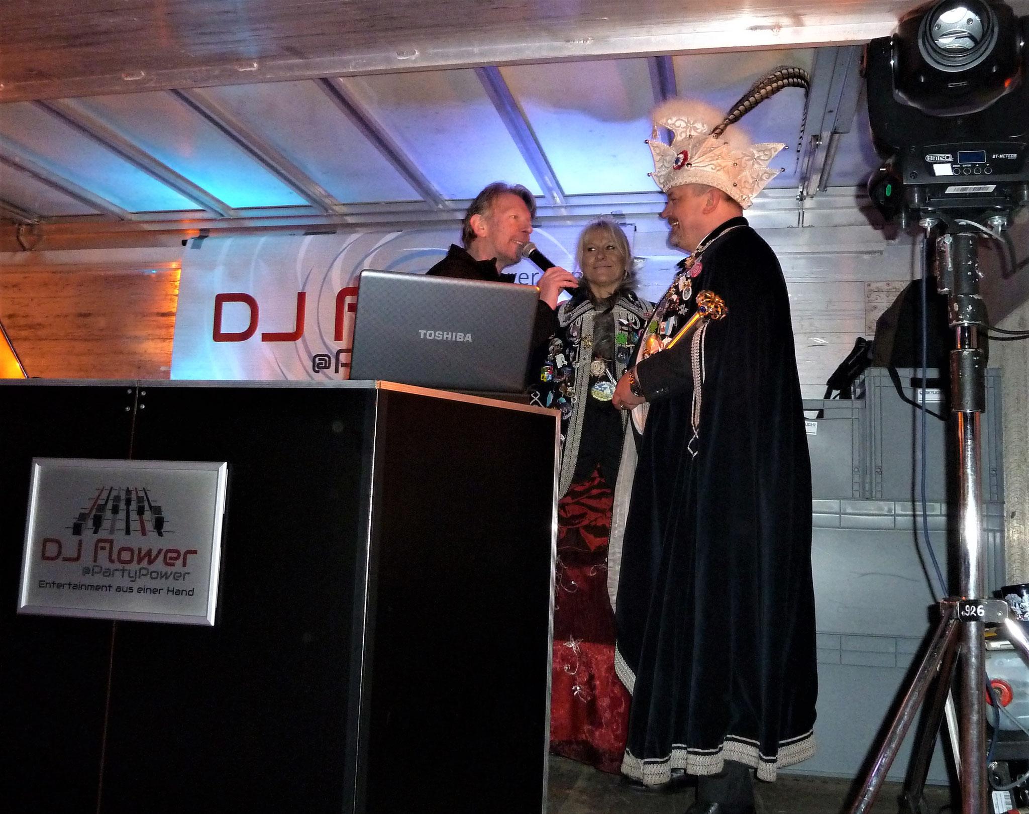 ...DJ Flower im Gespräch mit den Heilbronner Hoheiten