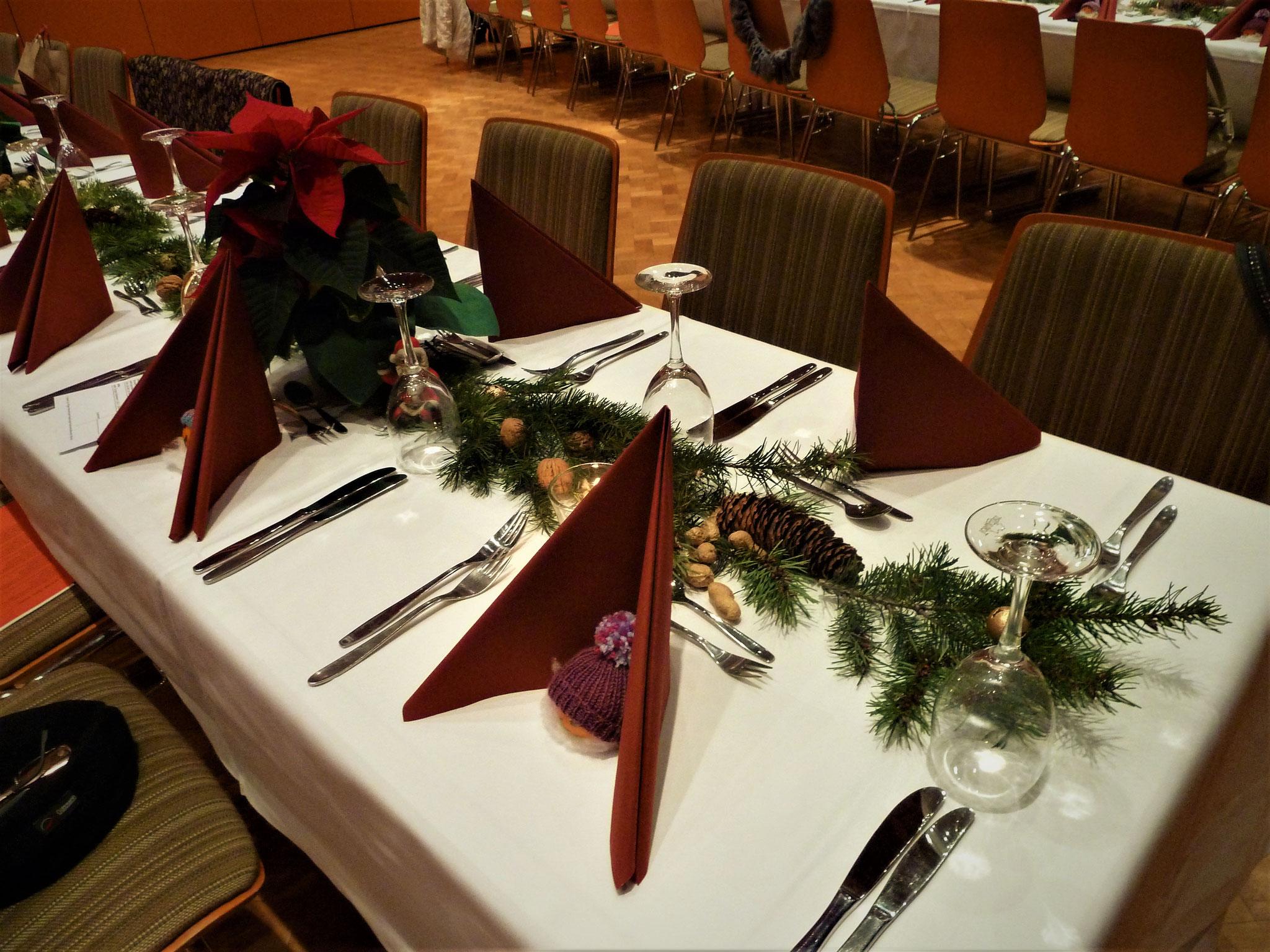 Perfekte Tischdekoration