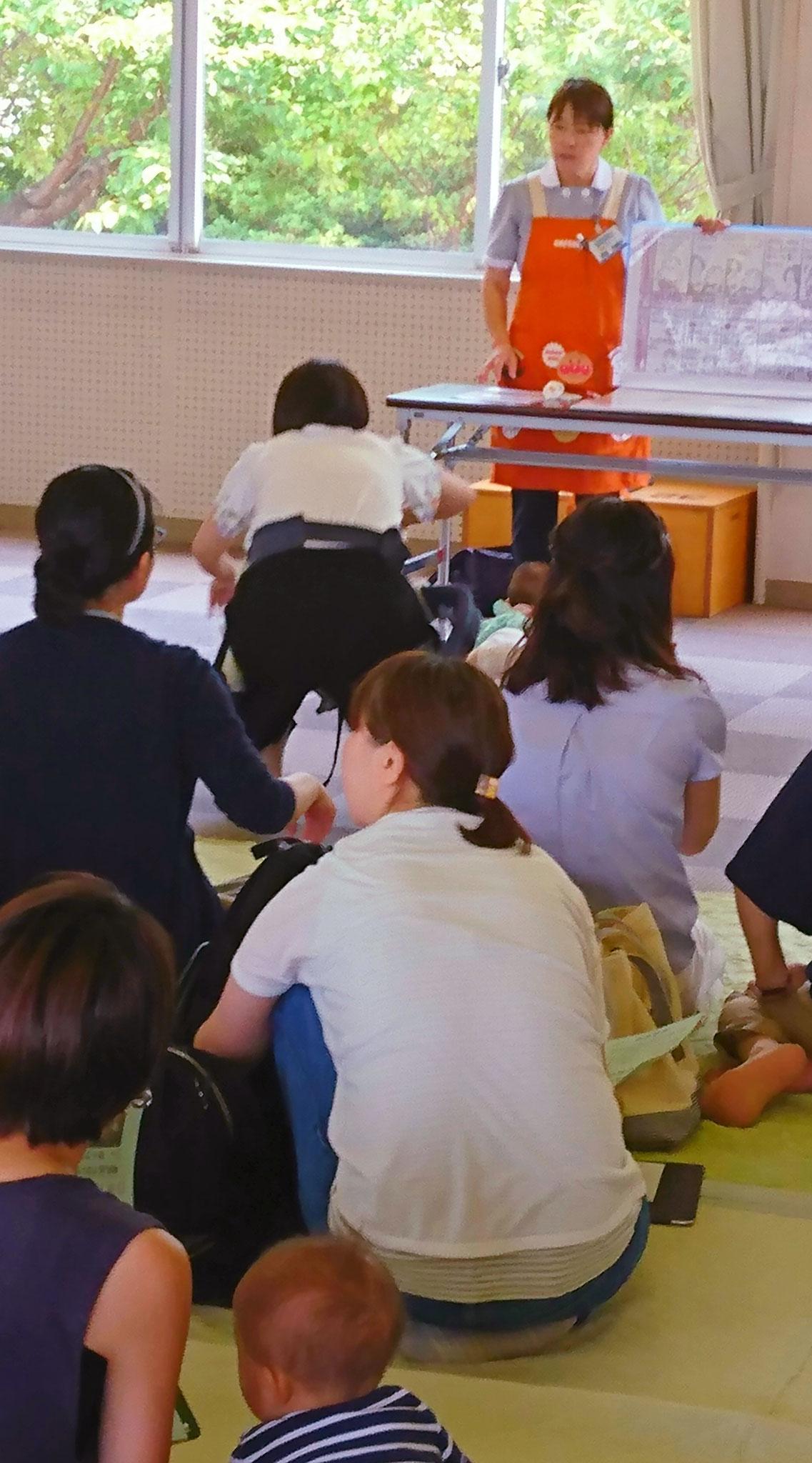 坂井市離乳食と歯の教室指導