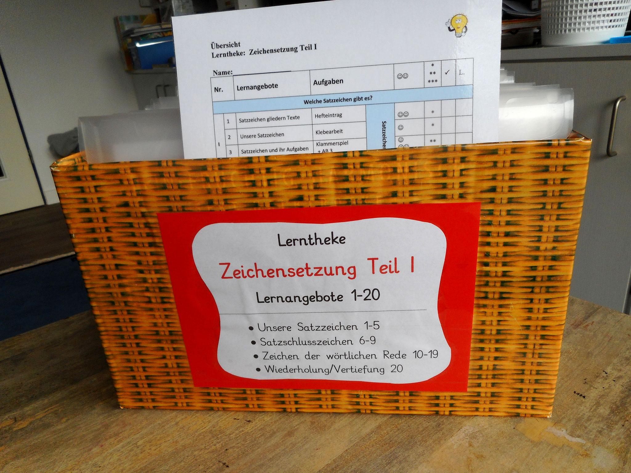 Lernangebote in fertig erstellter Kiste mit 20 Lernangeboten