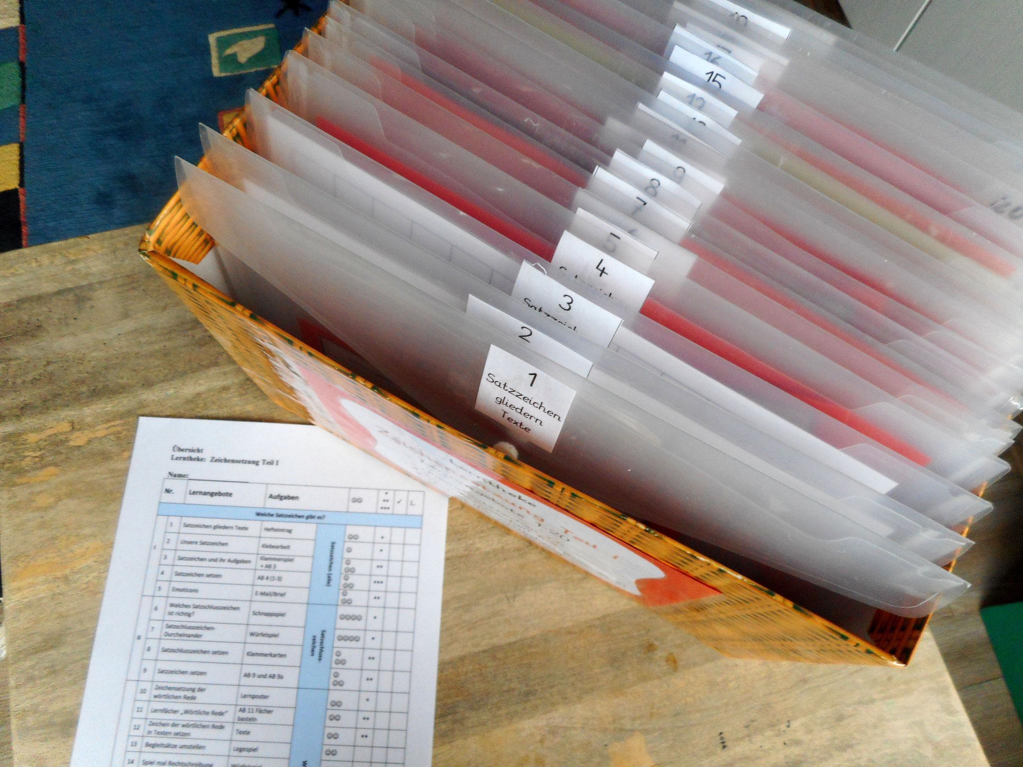 Jede Aktentasche enthält ein Lernangebot mit allen Materialien