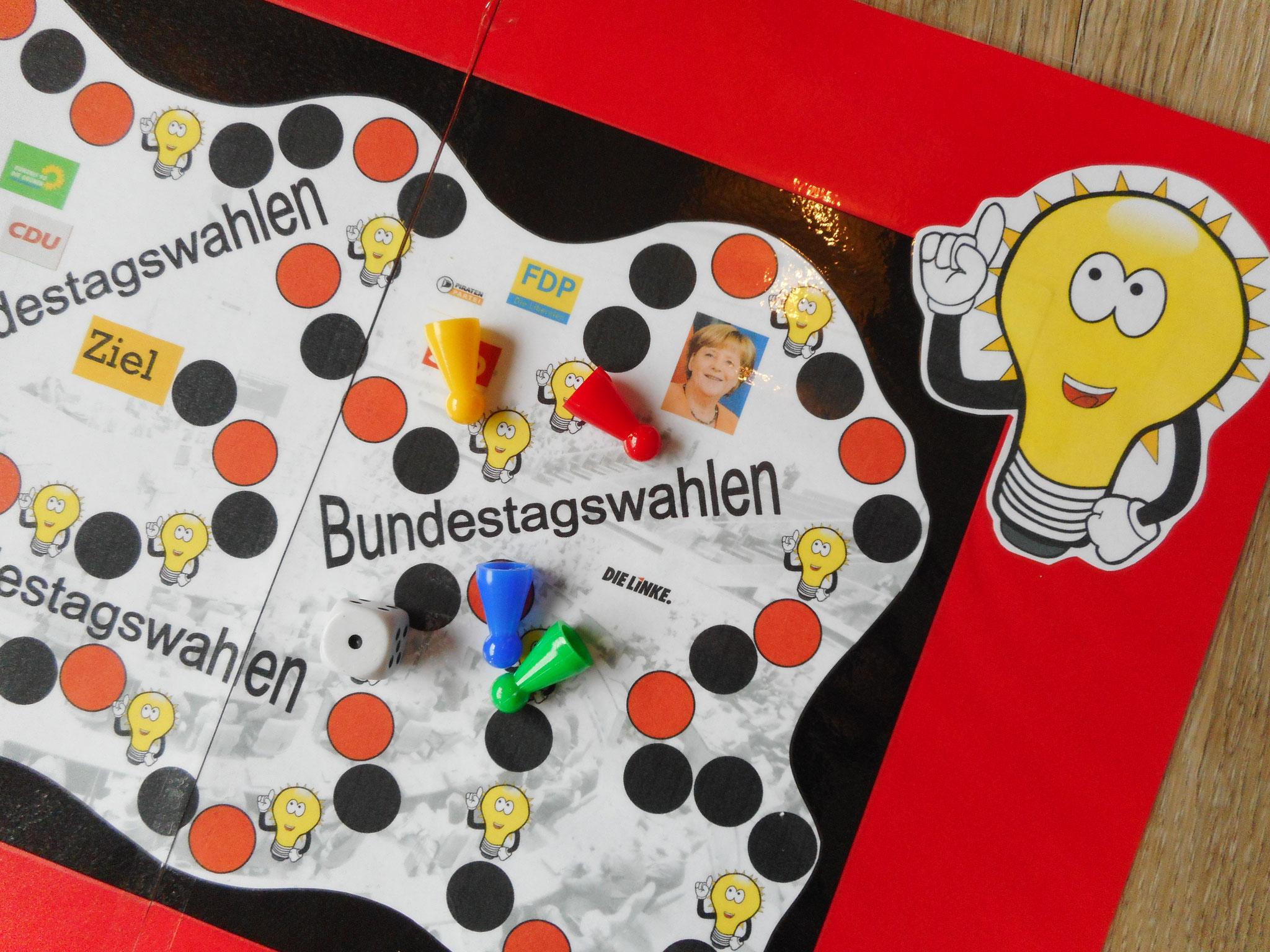 """Würfelspiel """"Bundestagswahlen"""" (Texte Bundestagswahlen)"""