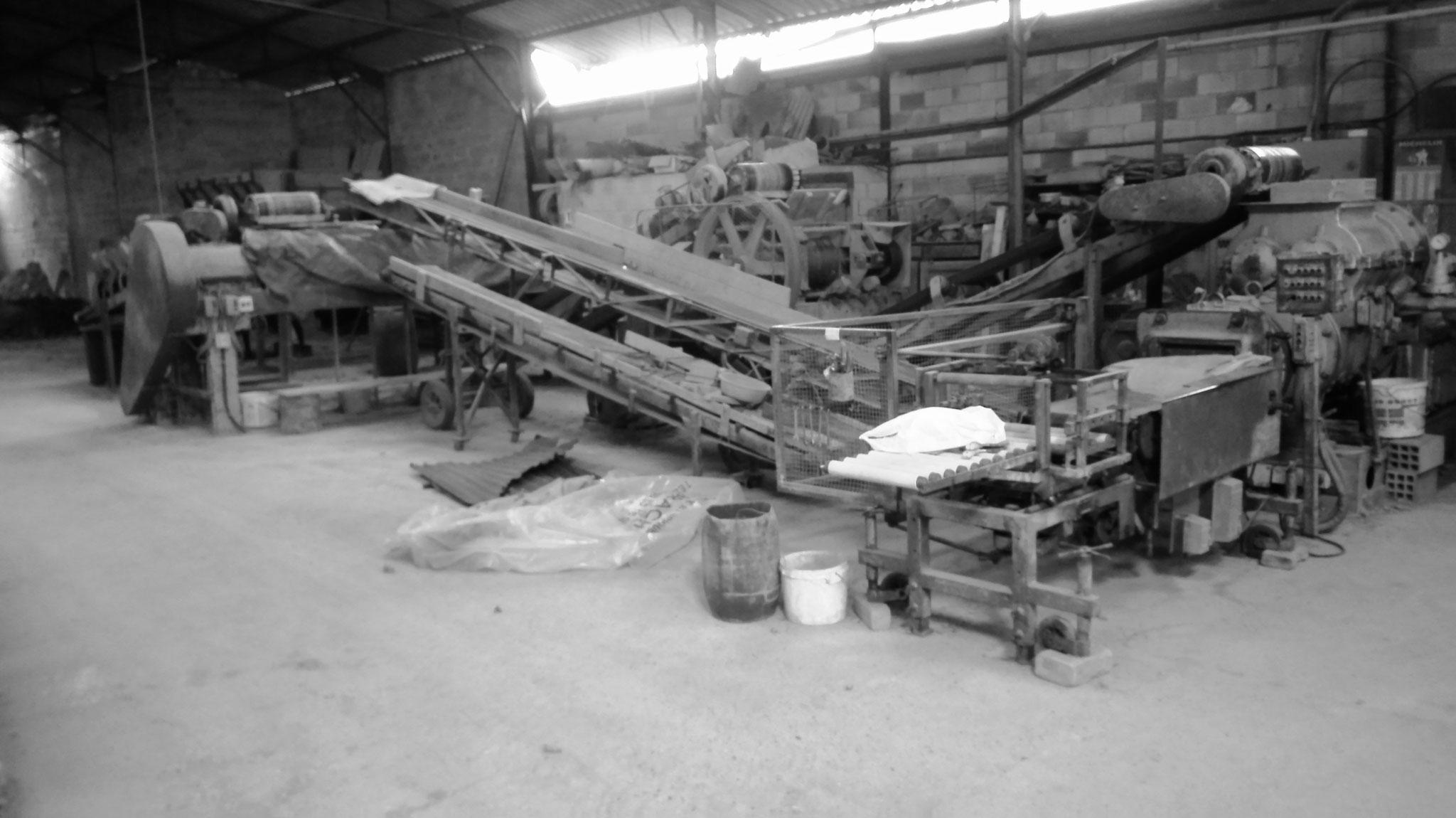 Chaine de fabrication des briques