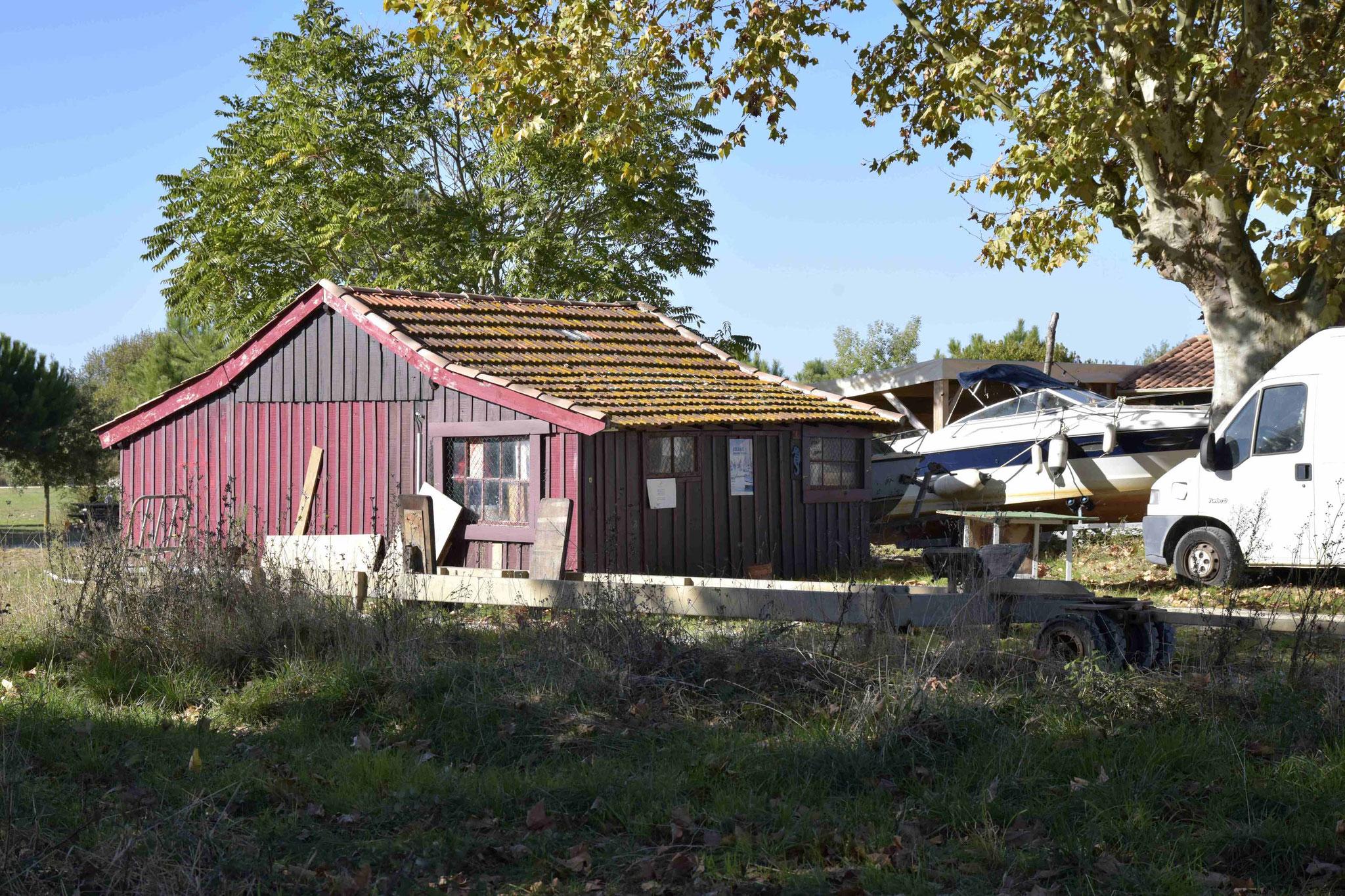 L'atelier est  installé dans un ancien cabanon d'ostréiculteur