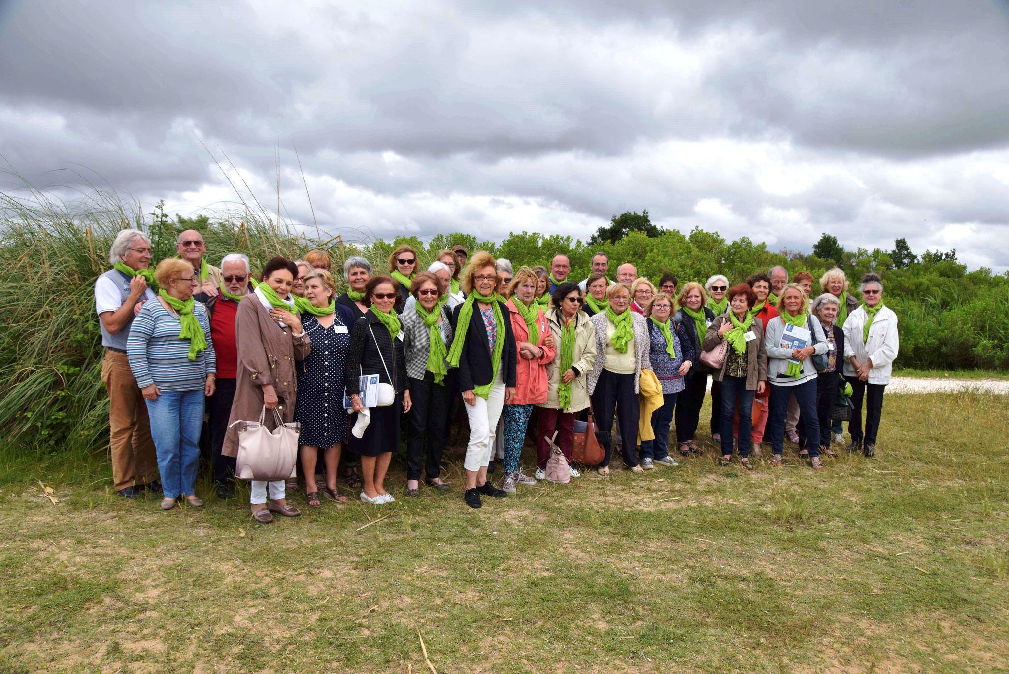 Journée de l'Assemblée en 2018: balade avec les bénévoles dans le port d'Audenge