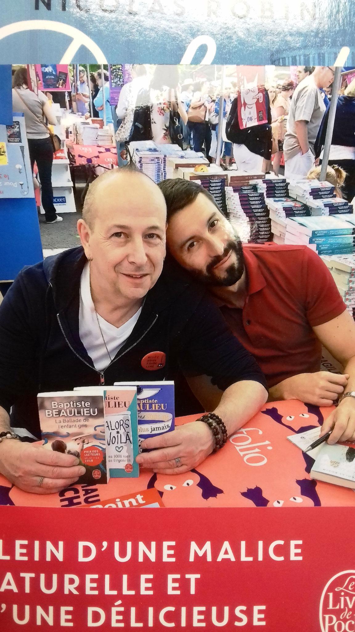 Philippe et Nicolas Robin lors de la dédicace de son livre
