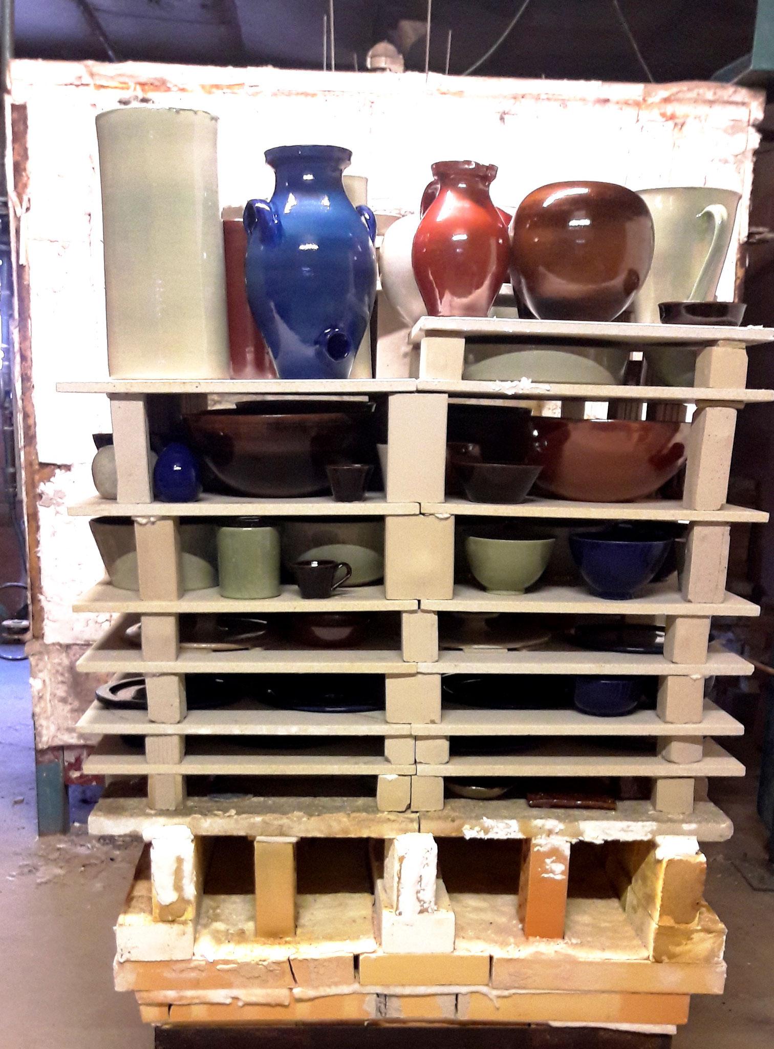 Les poteries en attente de cuisson