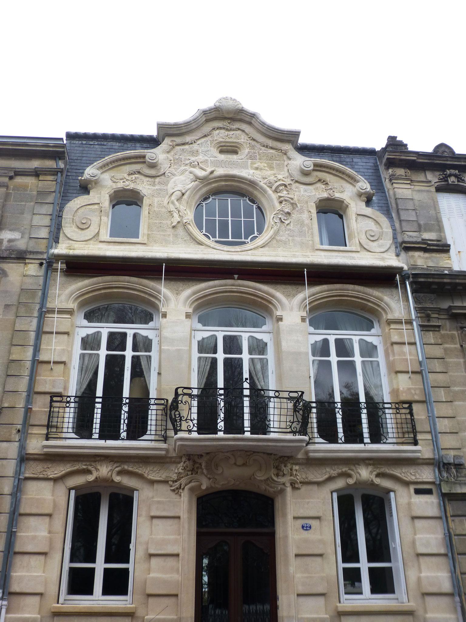 Maison au style néo rococo, 22 avenue Carnot