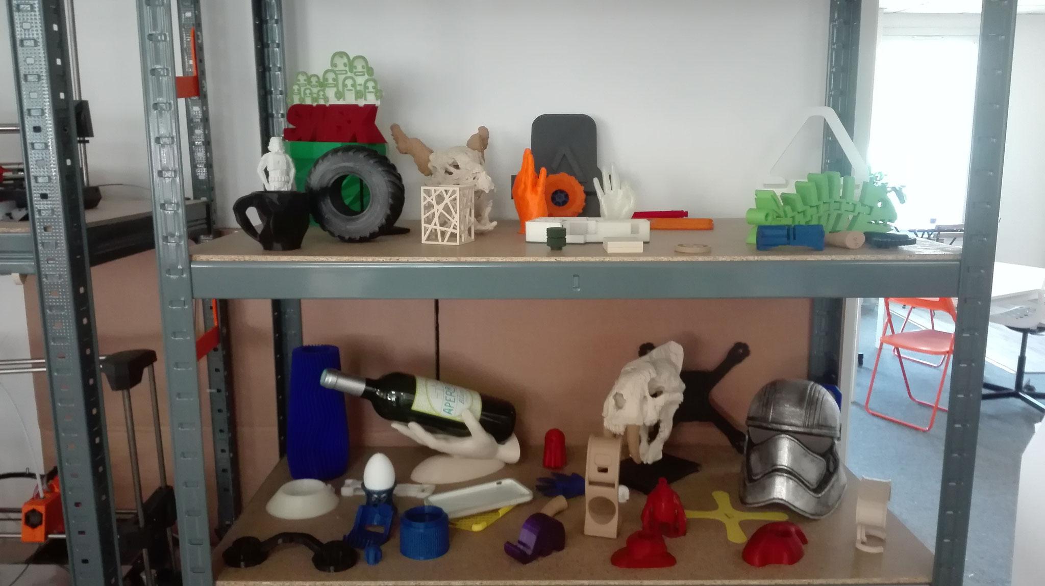 Objets divers fabriqués avec l'imprimante 3D