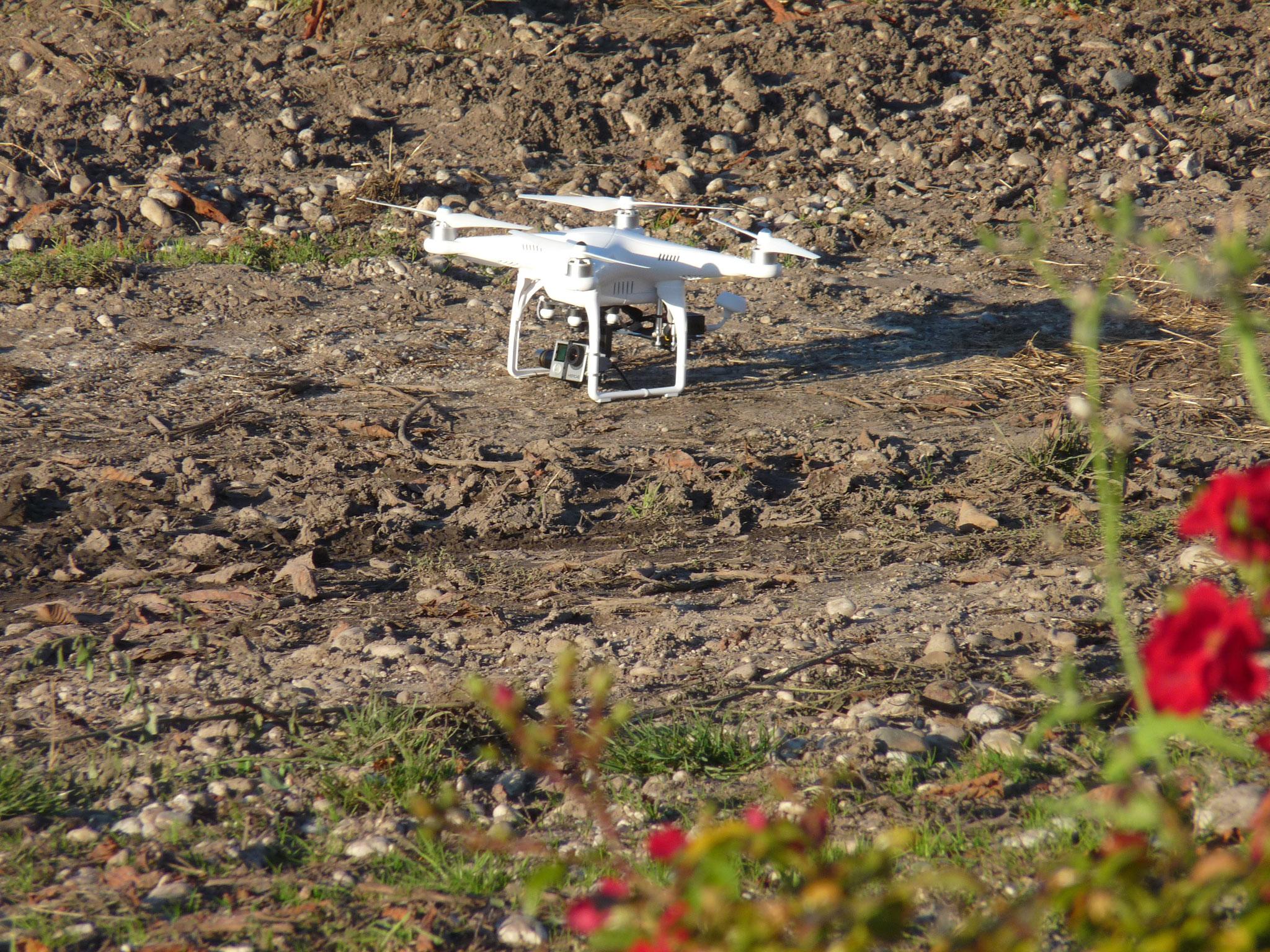 Le drone prêt à décoller (P. Guillot)