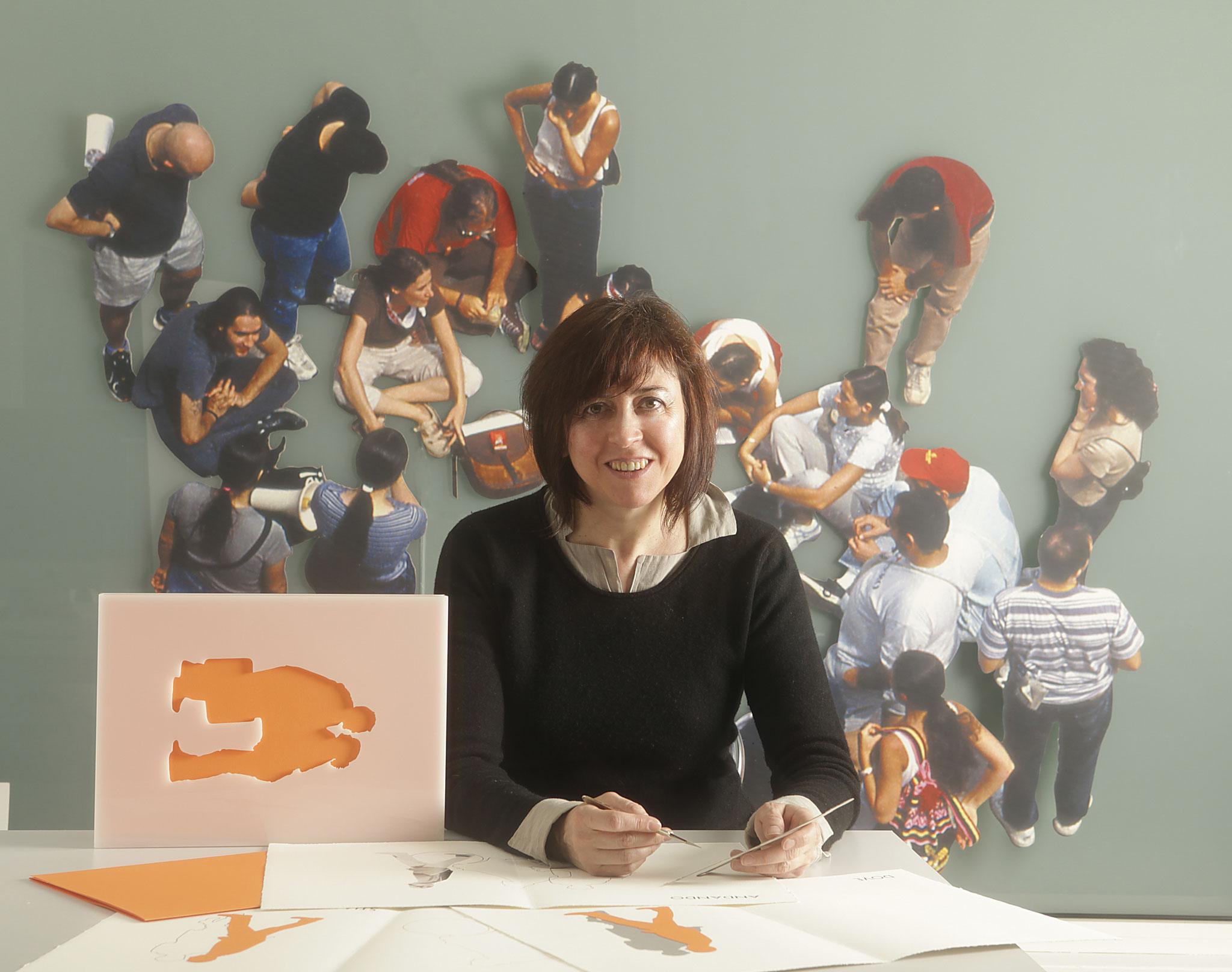 """Simona Uberto al lavoro su """"Dove?"""""""