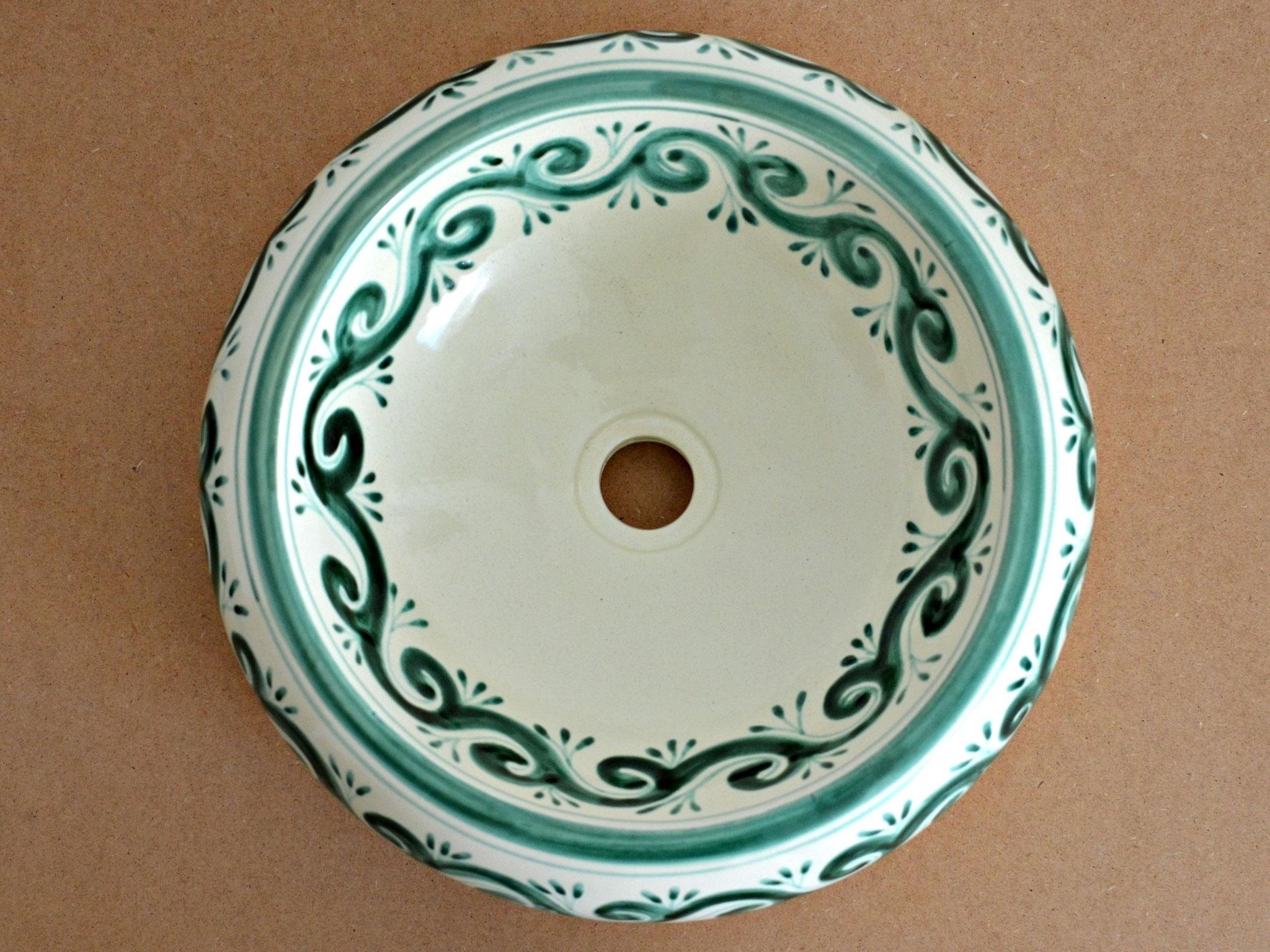 Mexikanisches Design Aufsatzwashbecken Donna - Motiv: OLA VERDE