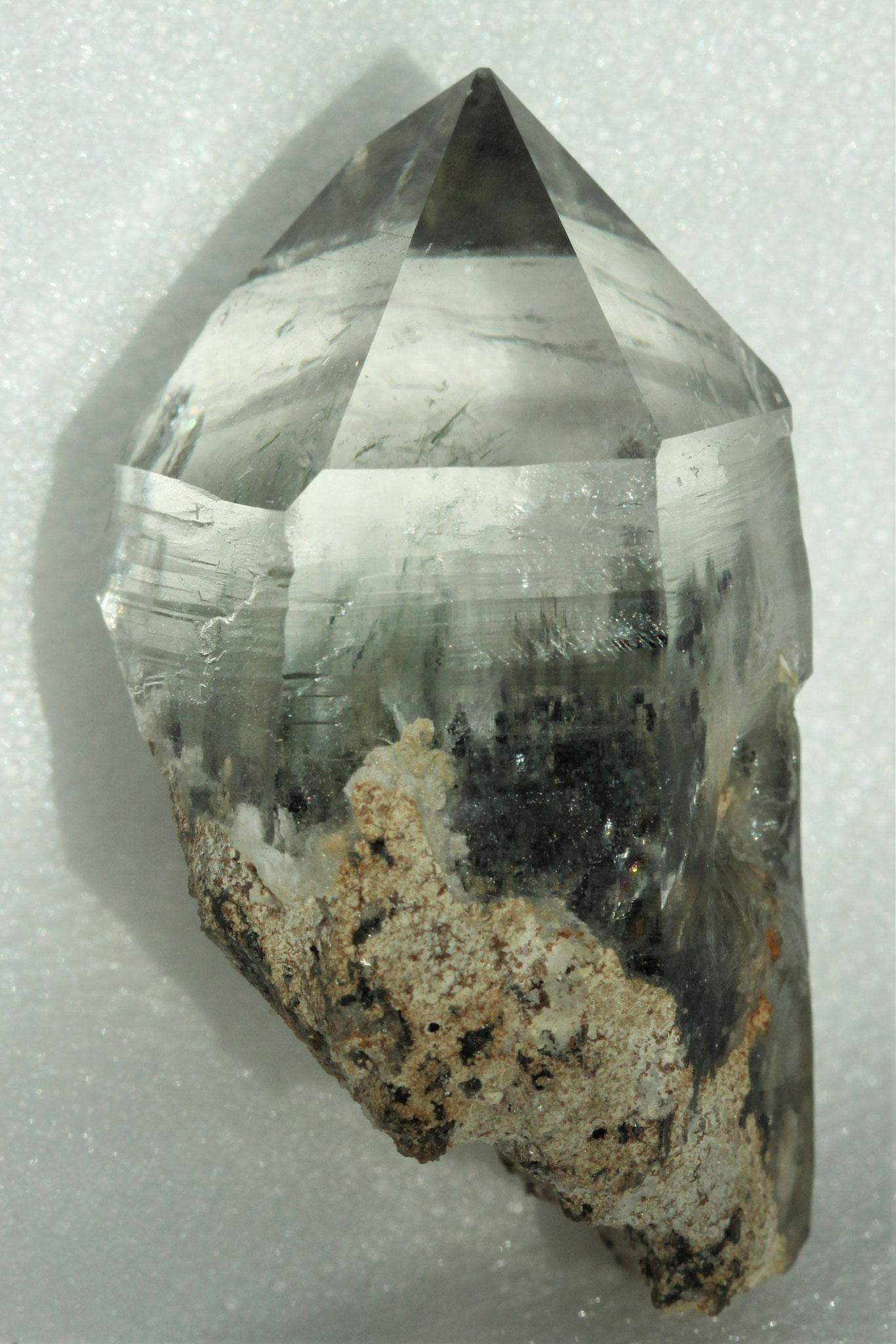 Bergkristall mit Aktinolit - Tremola (TI)