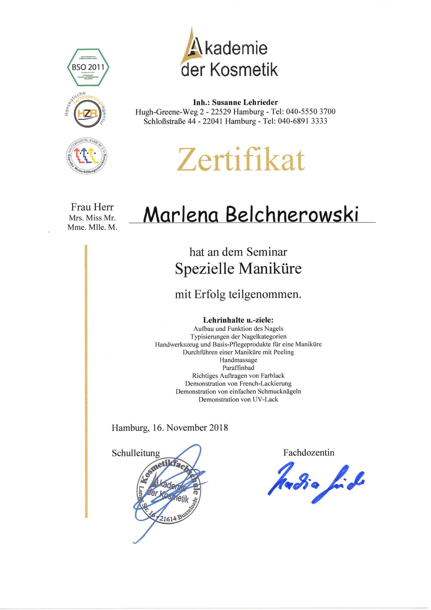 Fußpflege Hamburg Diplom 3