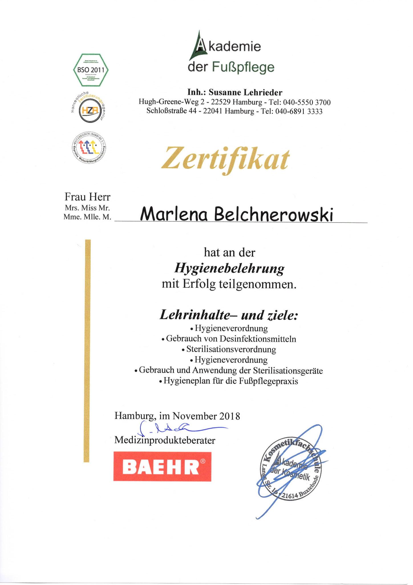 Fußpflege Hamburg Diplom 5