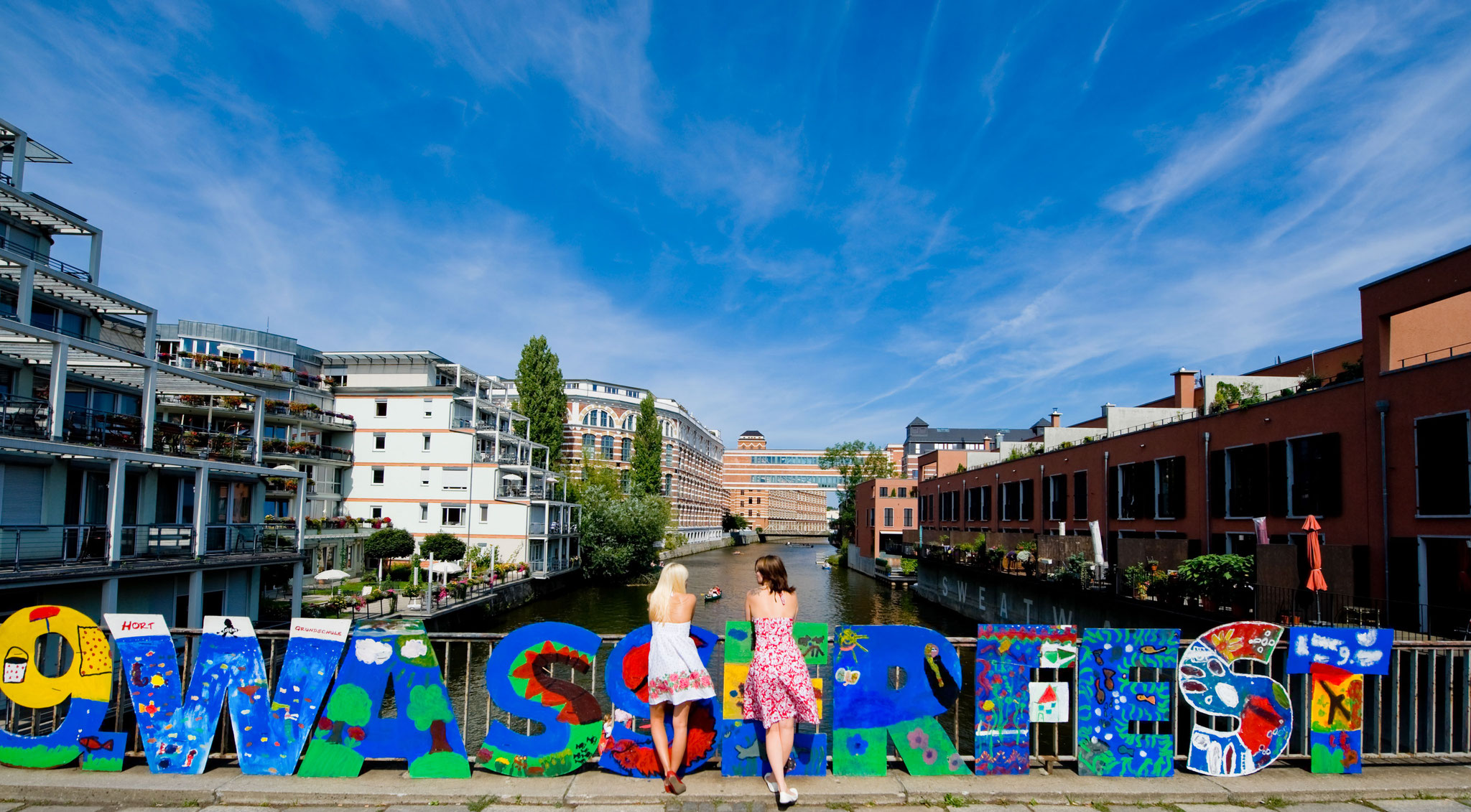 Wasserfest - Blick auf Karl-Heine Kanal - © Dirk Brzoska
