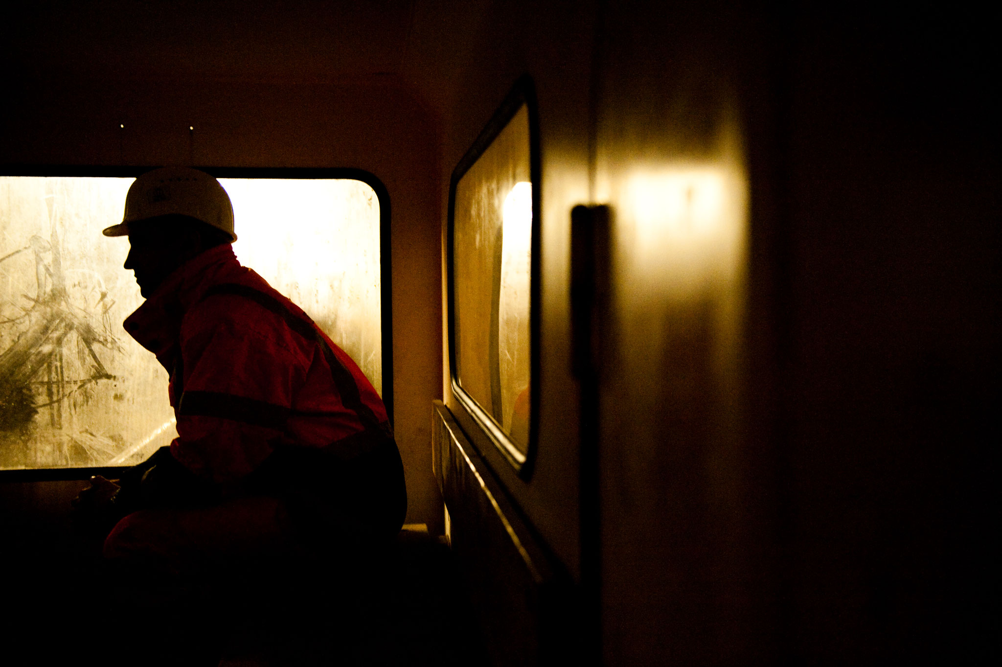 Fahrt in den Finnetunnel - fotografiert für PORR - © Dirk Brzoska
