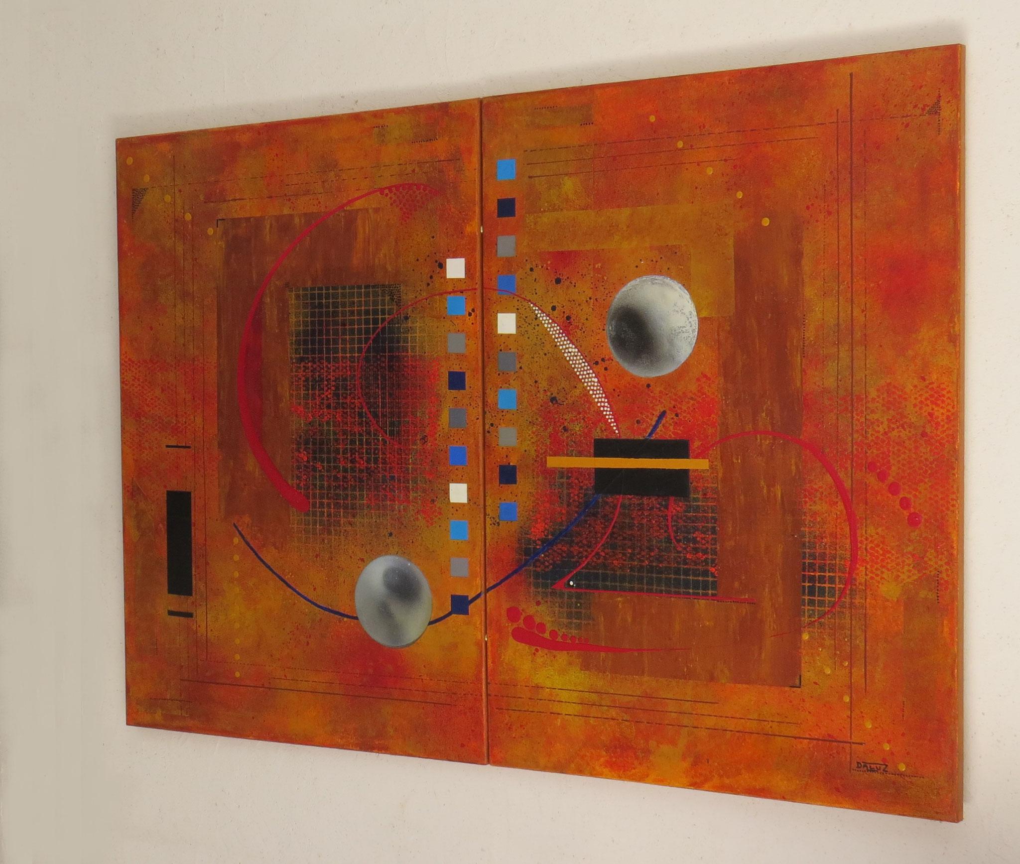 dzëta - vue côté2 - DALUZ GALEGO - peinture abstraite
