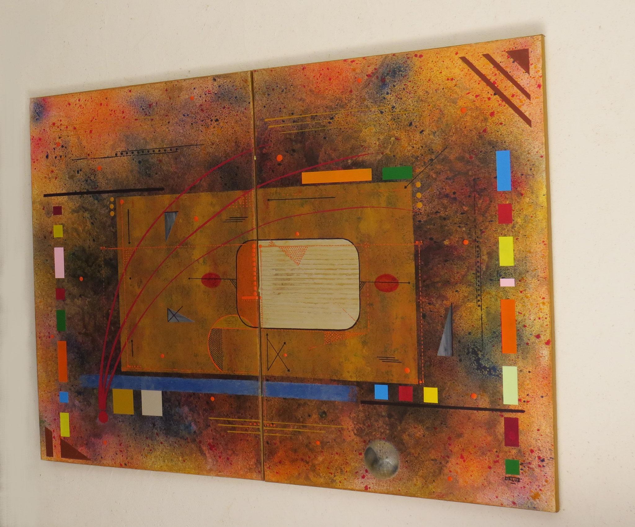 kappa - vue côté2 - DALUZ GALEGO - peinture abstraite