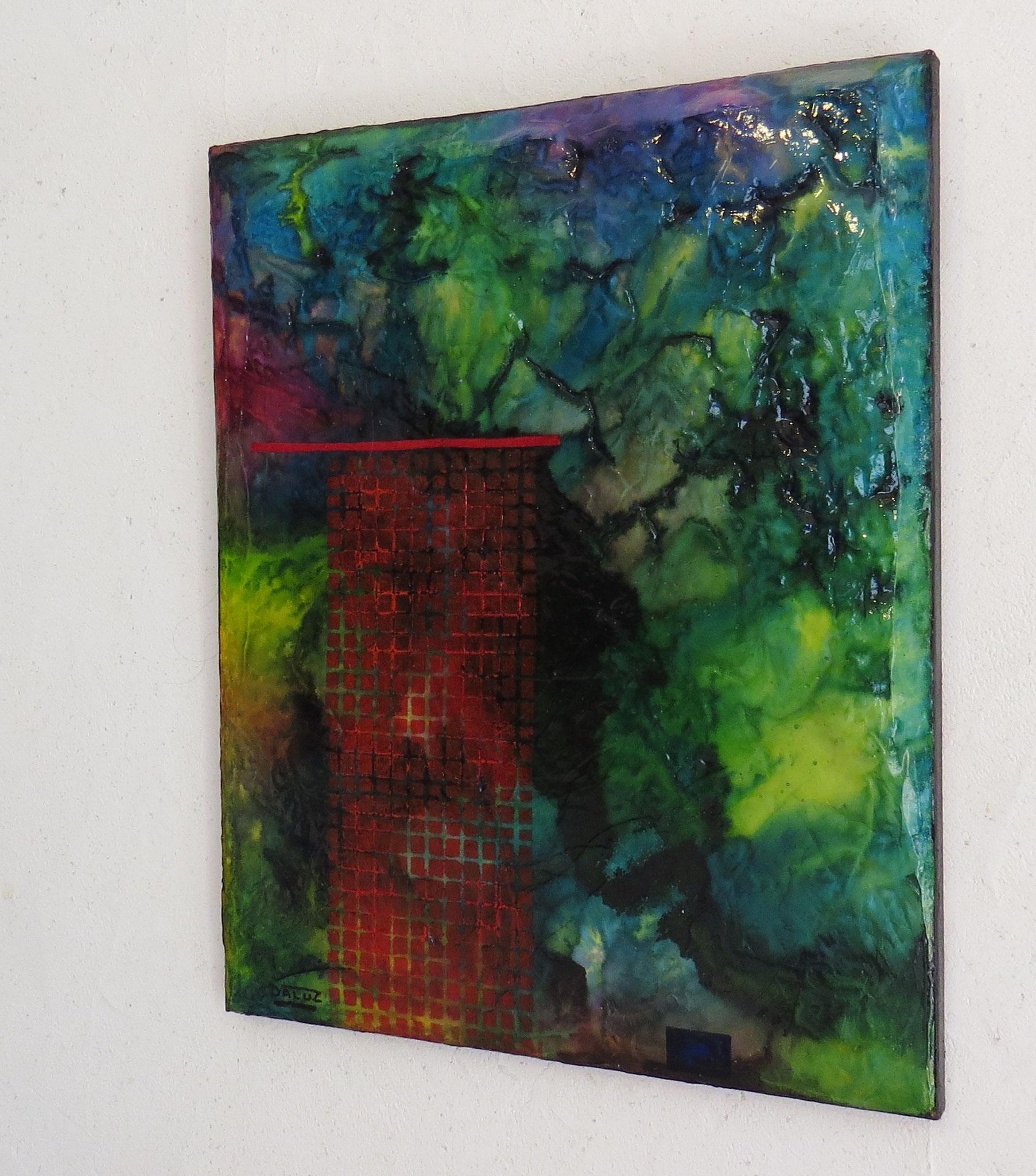nimbes - vue côté2 - DALUZ GALEGO - peinture abstraite