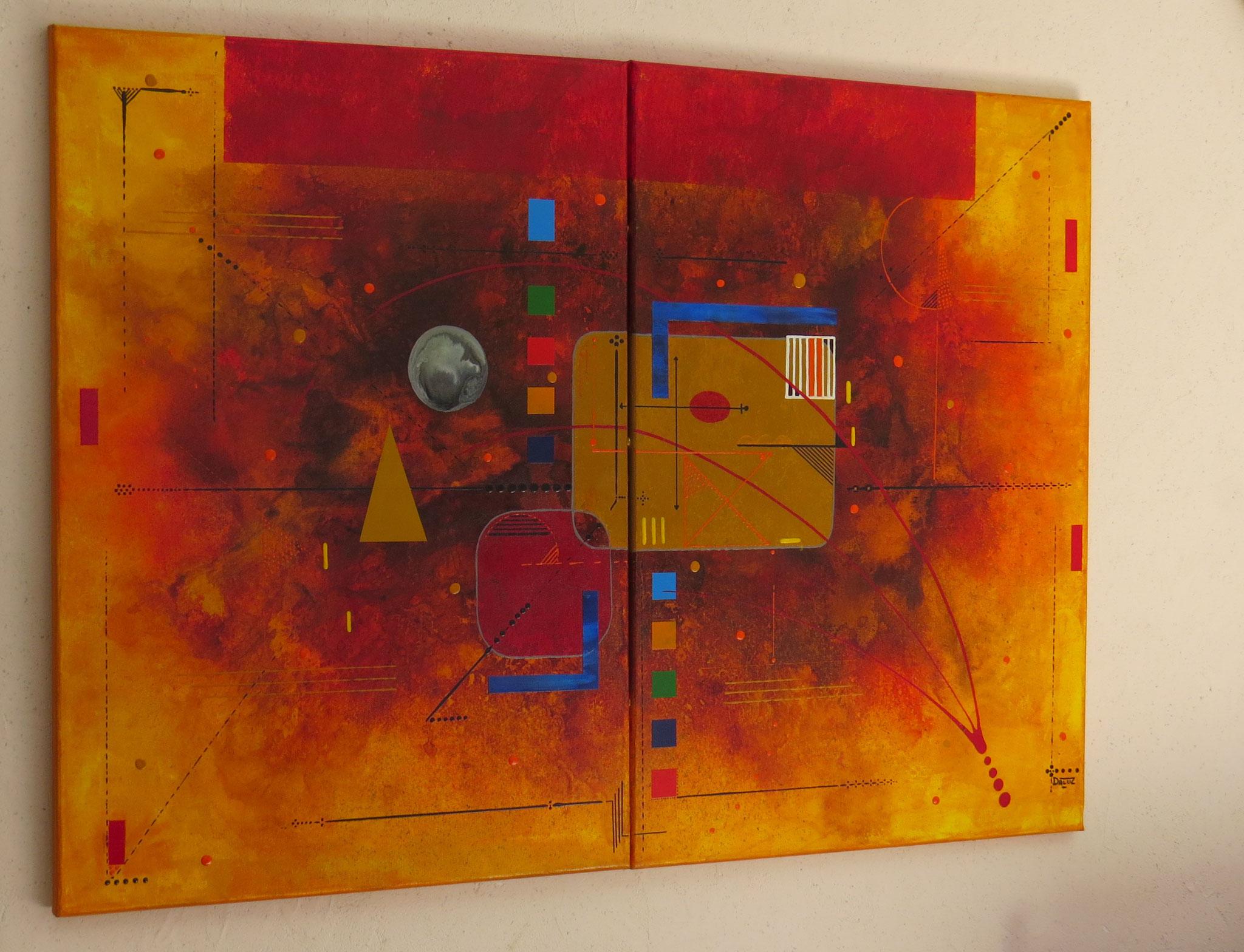 delta - vue côté1 - DALUZ GALEGO - peinture abstraite