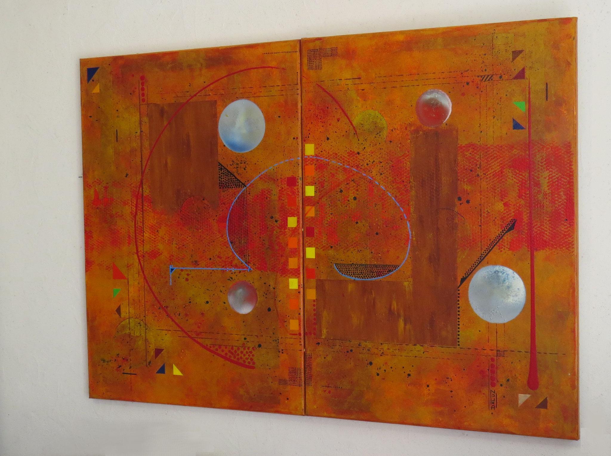 thêta - vue côté2 - DALUZ GALEGO - peinture abstraite