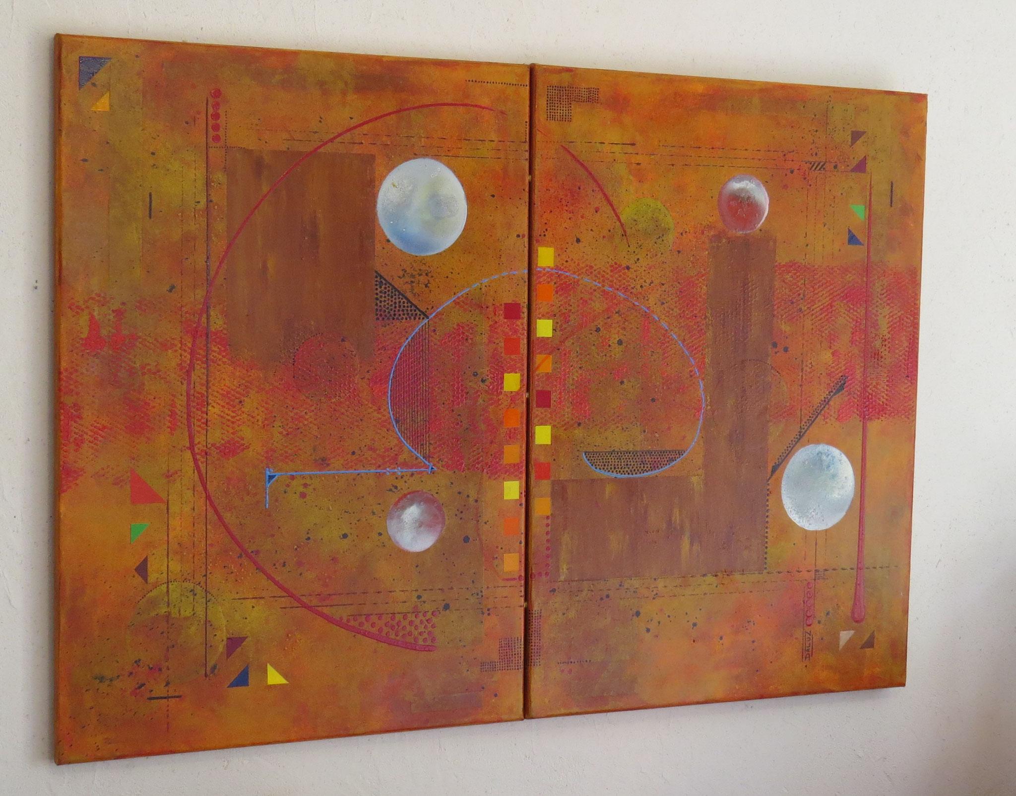 thêta - vue côté1 - DALUZ GALEGO - peinture abstraite