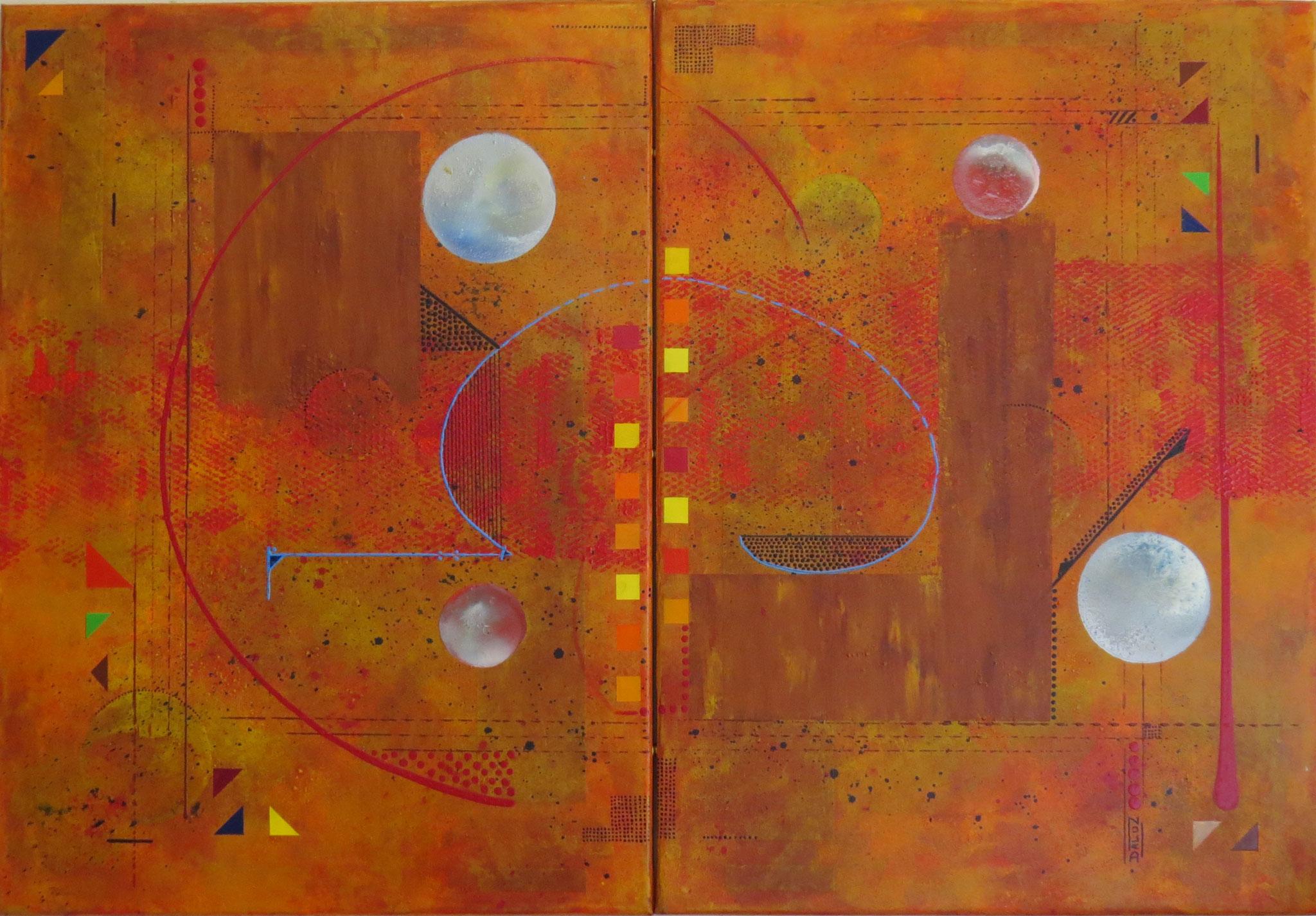 thêta - vue face1 - DALUZ GALEGO - peinture abstraite