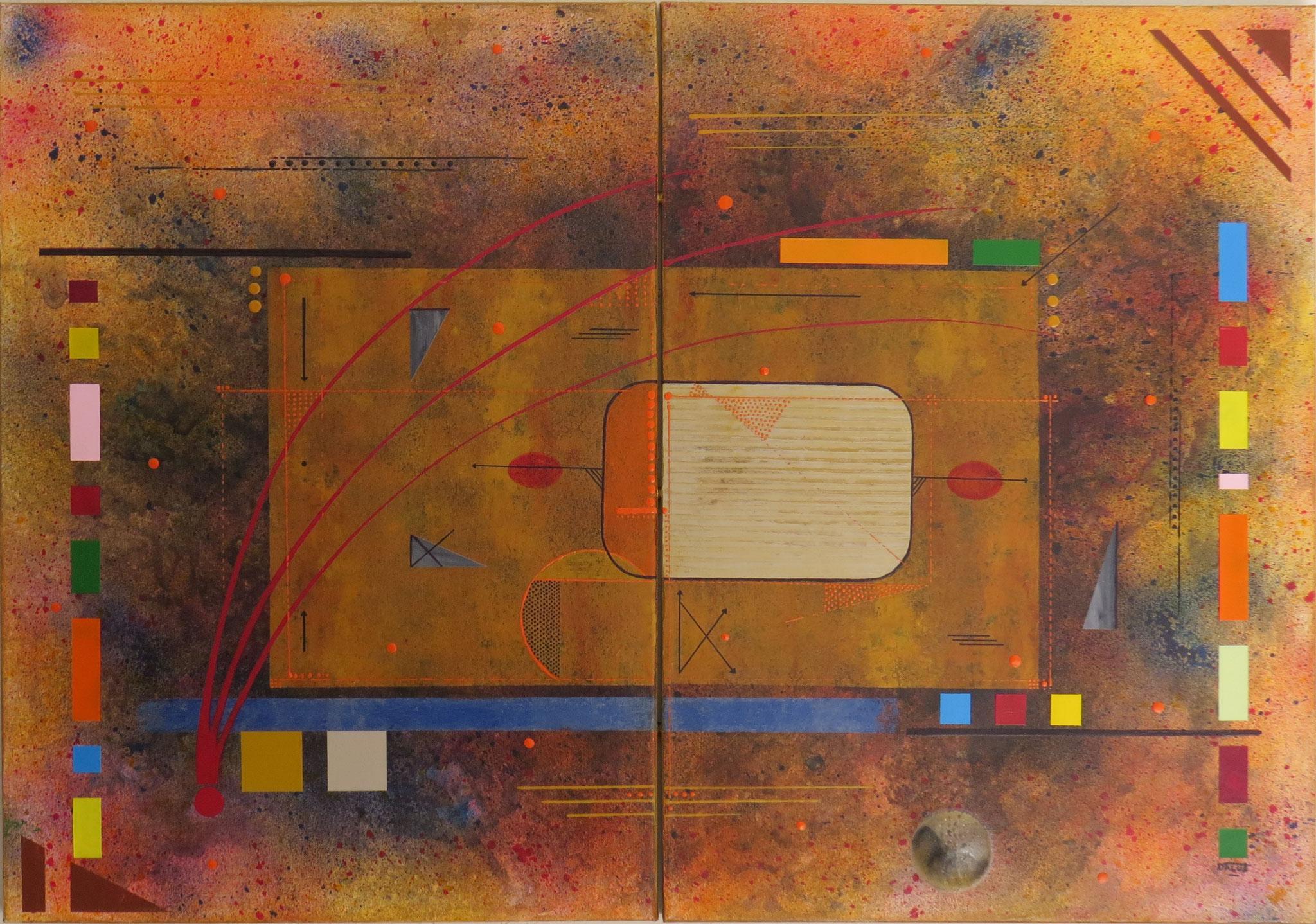 kappa - vue face1 - DALUZ GALEGO - peinture abstraite