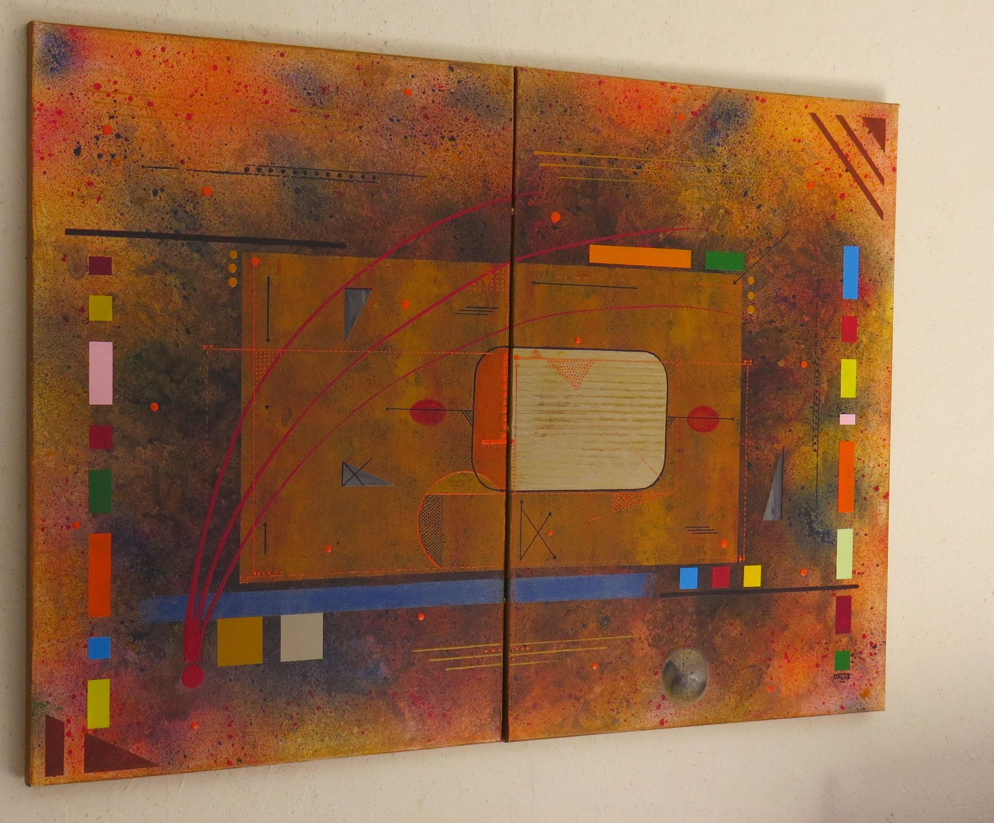 kappa - vue côté1 - DALUZ GALEGO - peinture abstraite