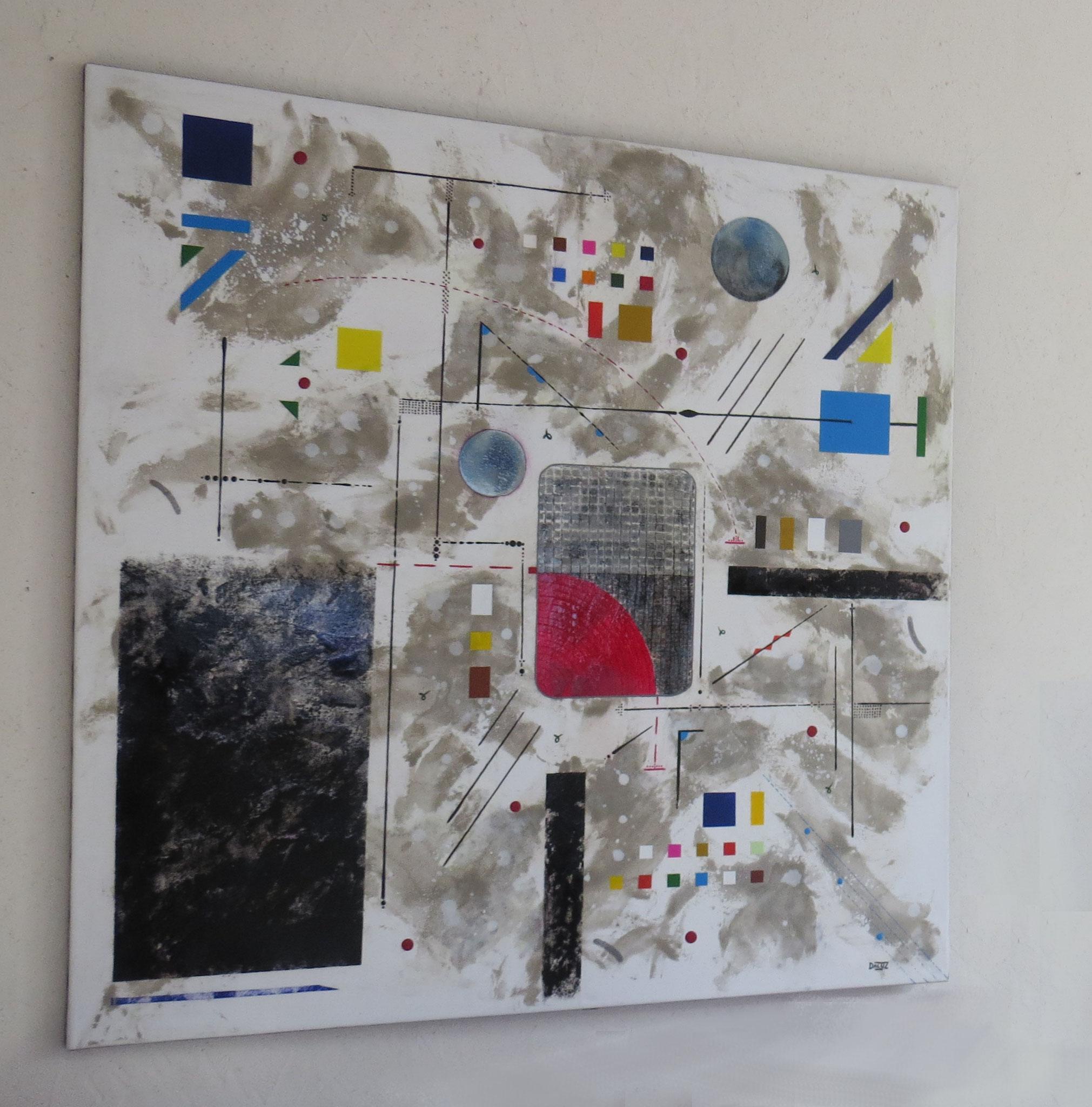 bunker sidéral - vue côté1 - DALUZ GALEGO - peinture abstraite