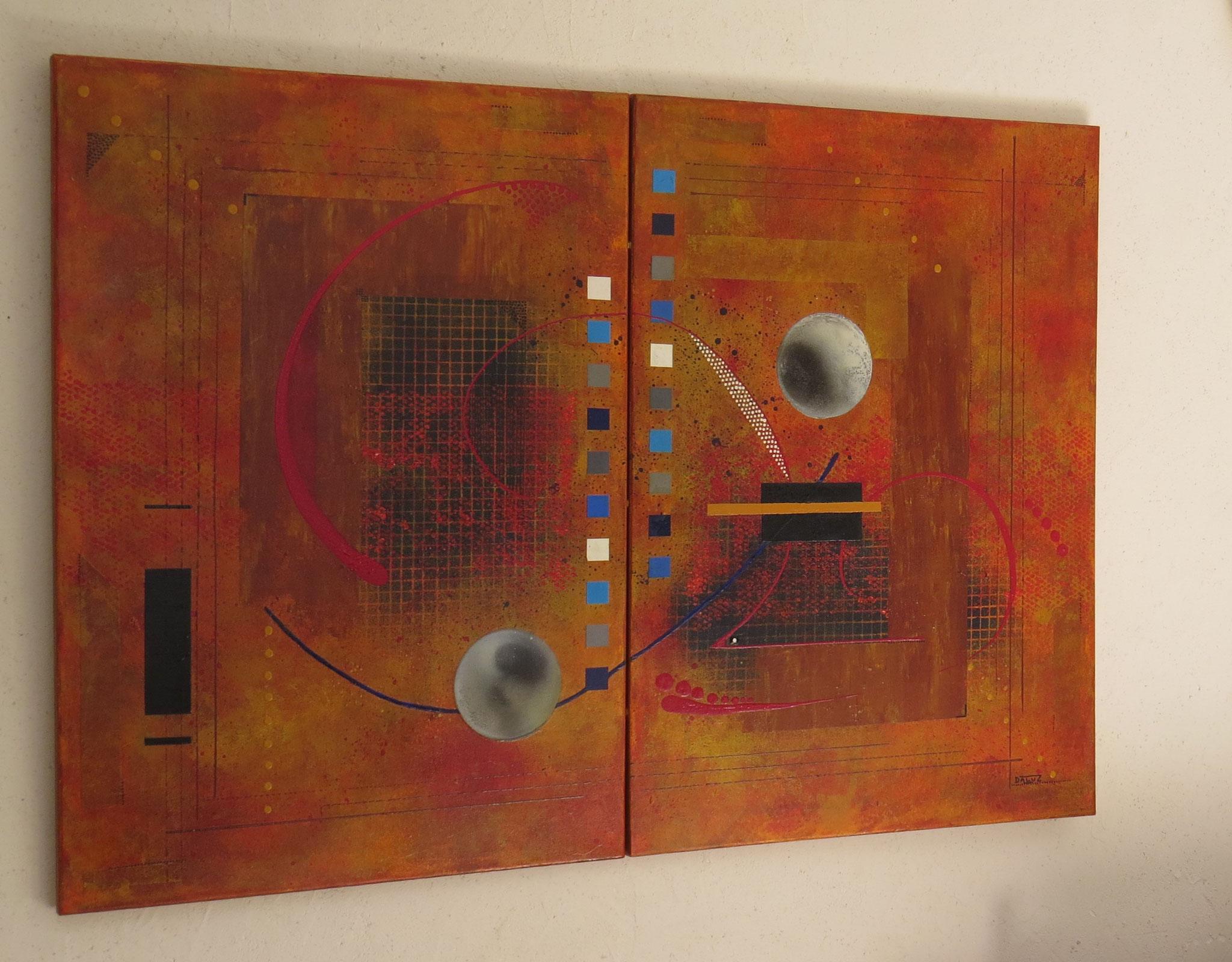 dzëta - vue côté1 - DALUZ GALEGO - peinture abstraite