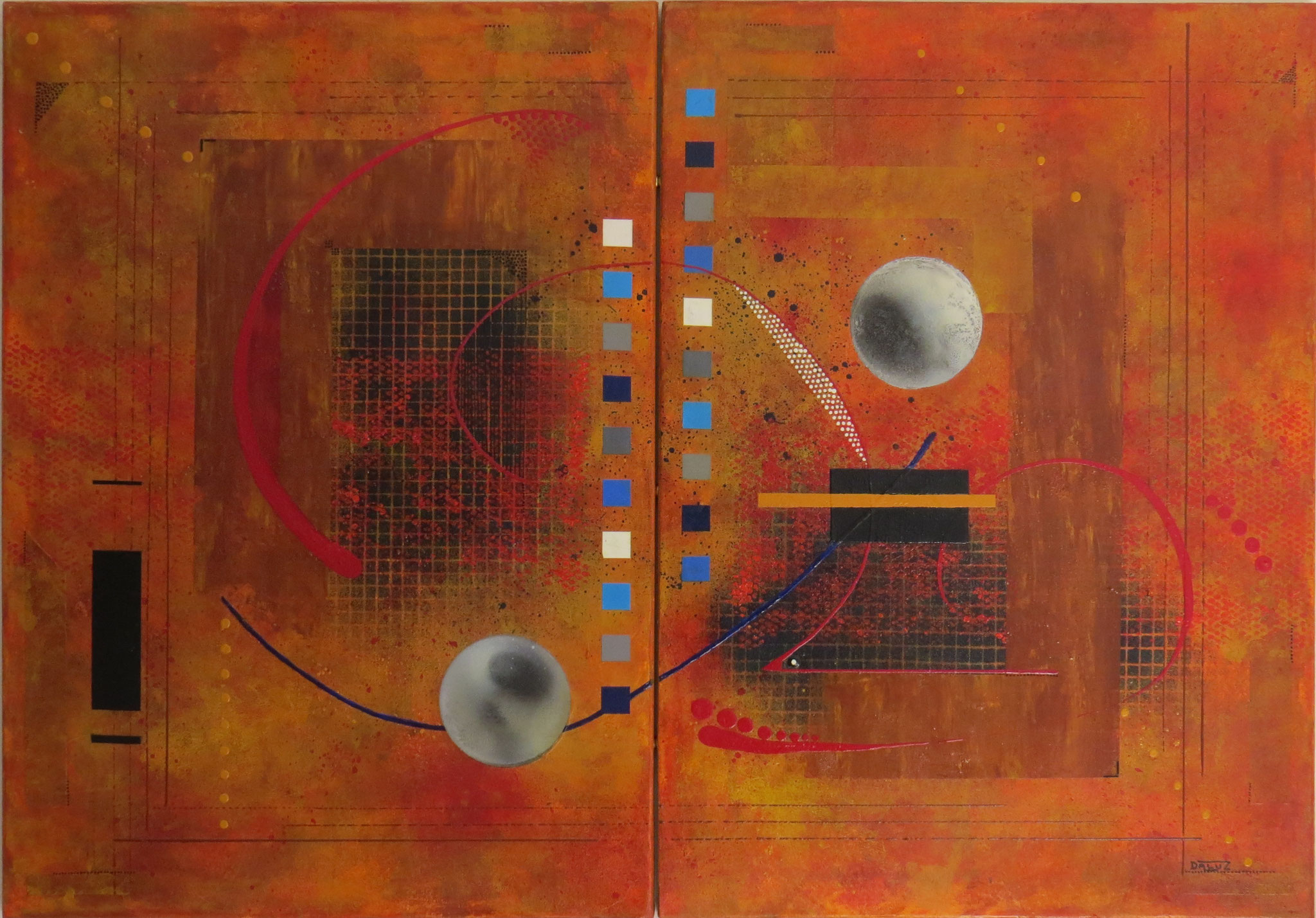dzëta - vue facé1 - DALUZ GALEGO - peinture abstraite