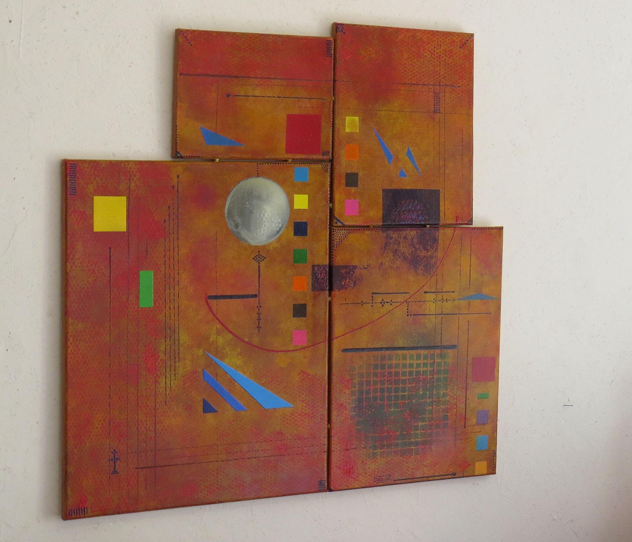 sigma - vue côté1 - DALUZ GALEGO - peinture abstraite