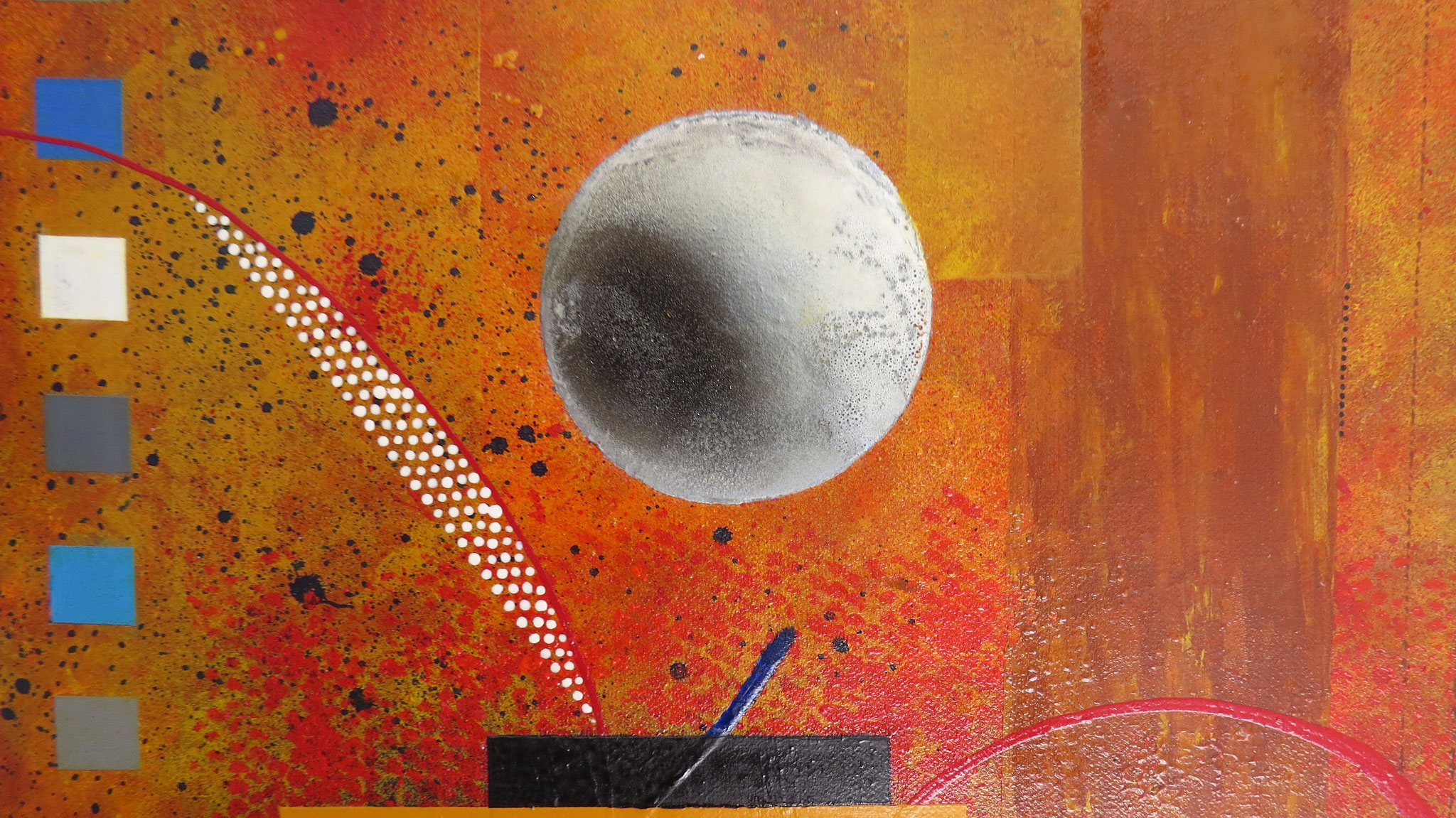 dzëta - vue zoom1 - DALUZ GALEGO - peinture abstraite